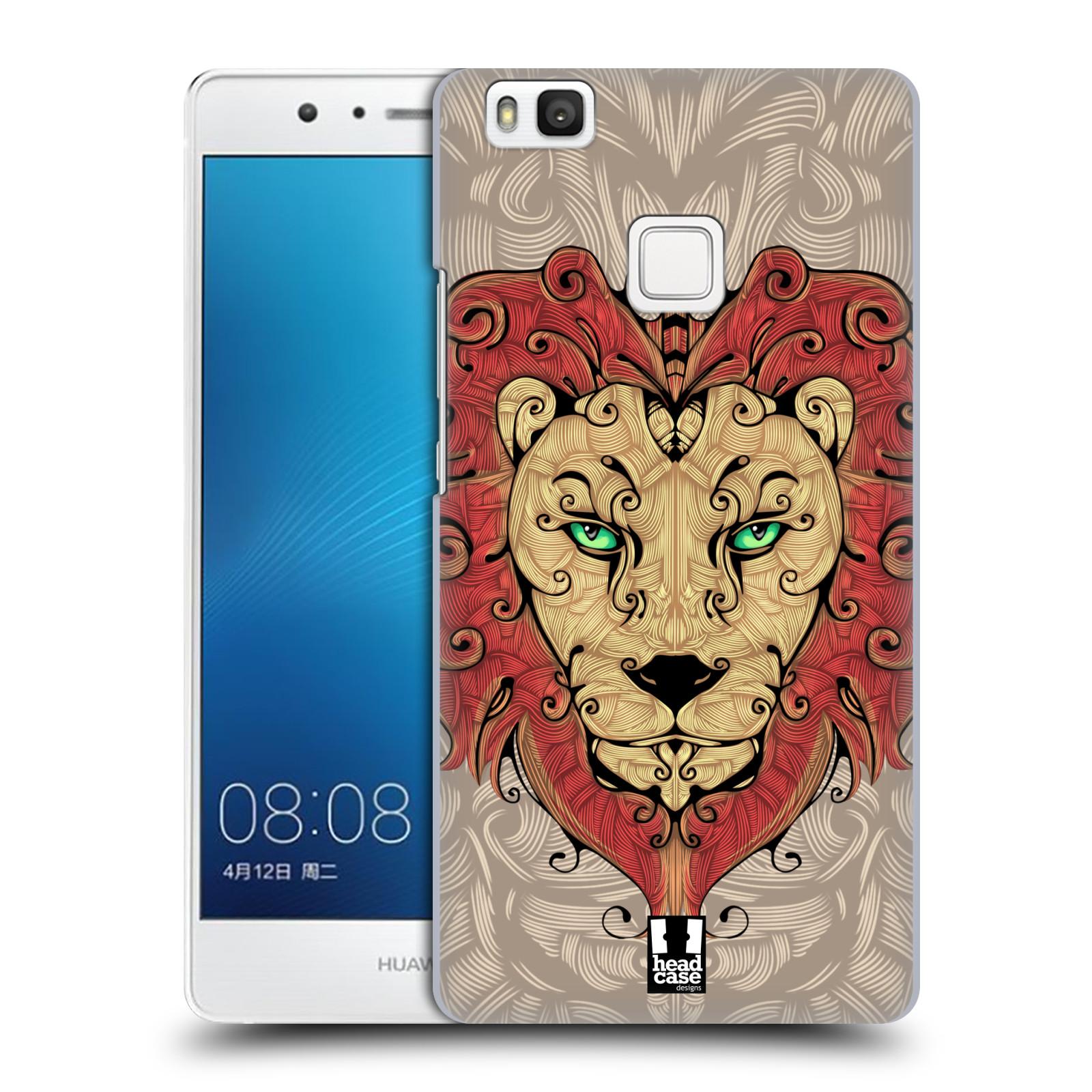 HEAD CASE plastový obal na mobil Huawei P9 LITE / P9 LITE DUAL SIM vzor kudrlinky zvíře lev