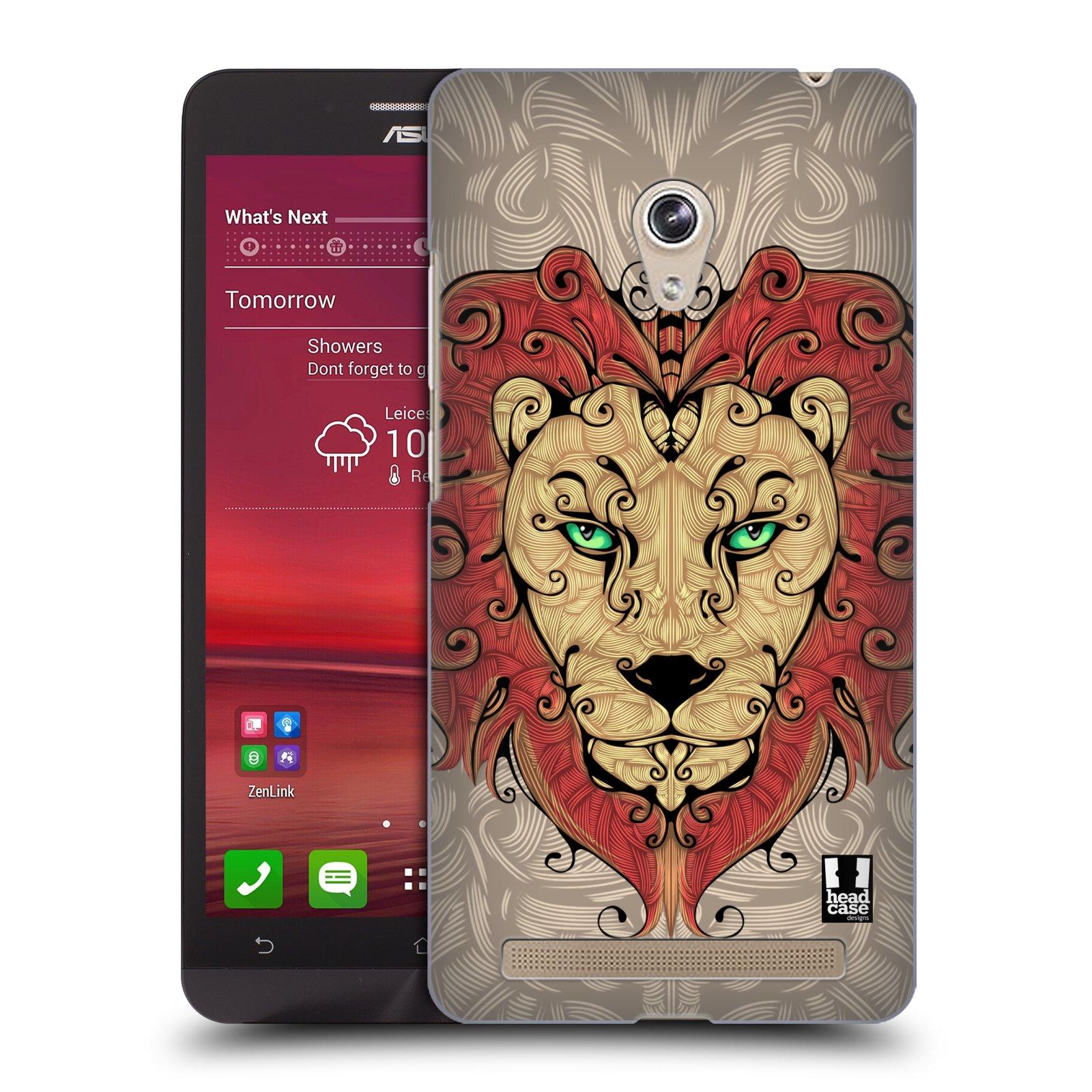HEAD CASE plastový obal na mobil Asus Zenfone 6 vzor kudrlinky zvíře lev