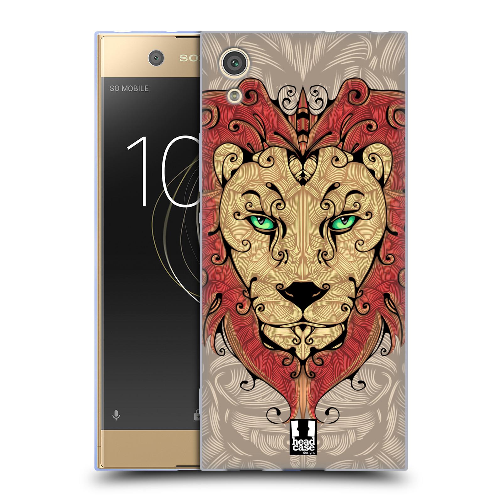 HEAD CASE silikonový obal na mobil Sony Xperia XA1 / XA1 DUAL SIM vzor kudrlinky zvíře lev