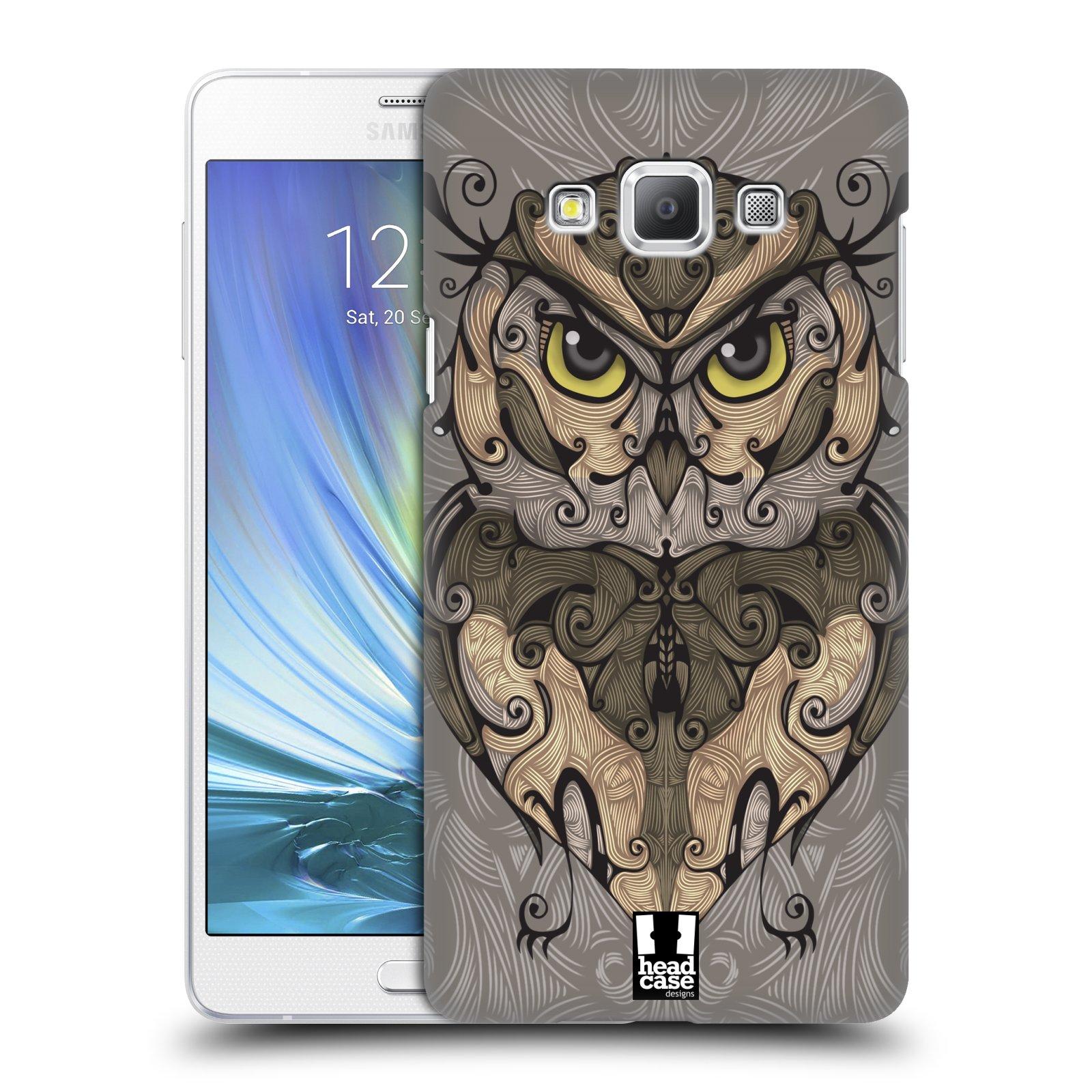 HEAD CASE plastový obal na mobil SAMSUNG GALAXY A7 vzor kudrlinky zvíře sova