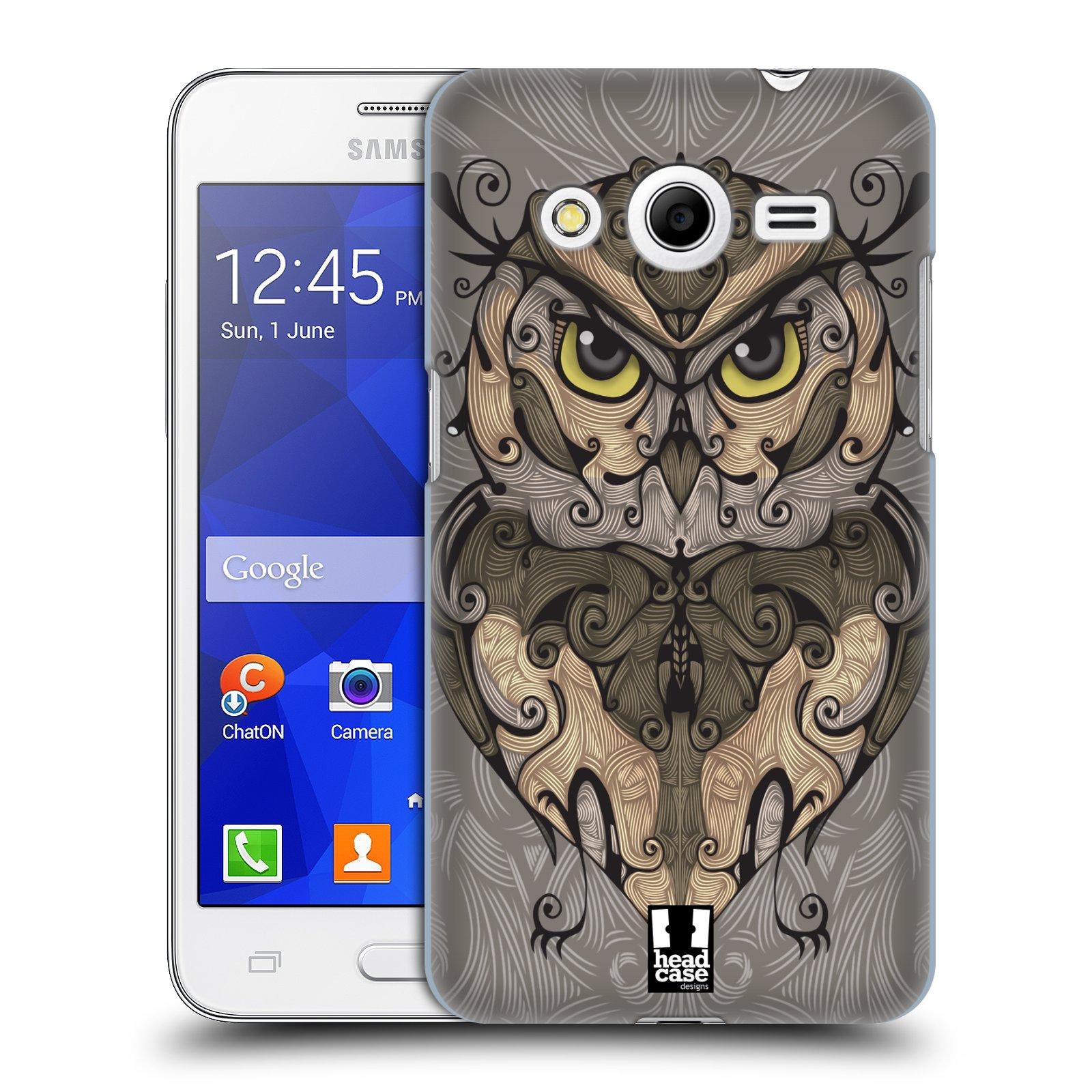 HEAD CASE plastový obal na mobil SAMSUNG GALAXY Core 2 (G355H) vzor kudrlinky zvíře sova