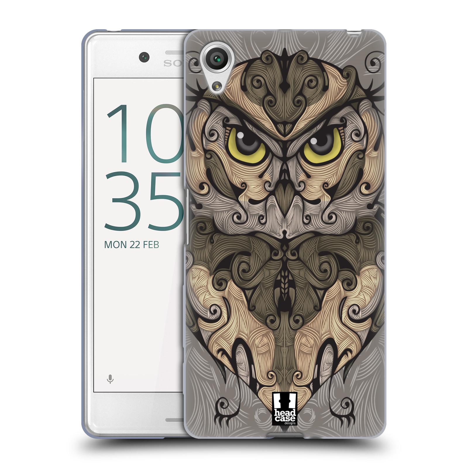 HEAD CASE silikonový obal na mobil Sony Xperia X PERFORMANCE (F8131, F8132) vzor kudrlinky zvíře sova