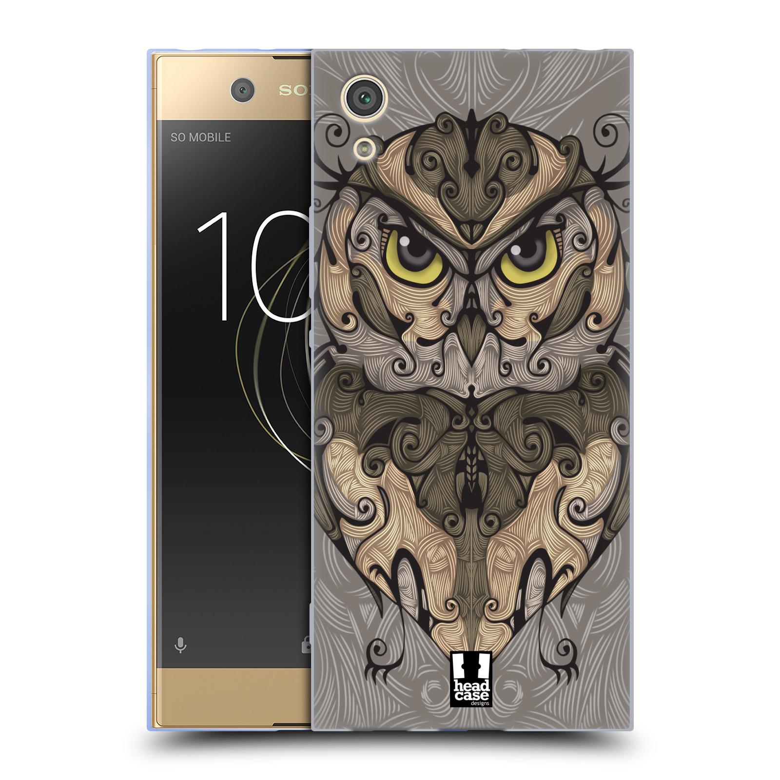 HEAD CASE silikonový obal na mobil Sony Xperia XA1 / XA1 DUAL SIM vzor kudrlinky zvíře sova