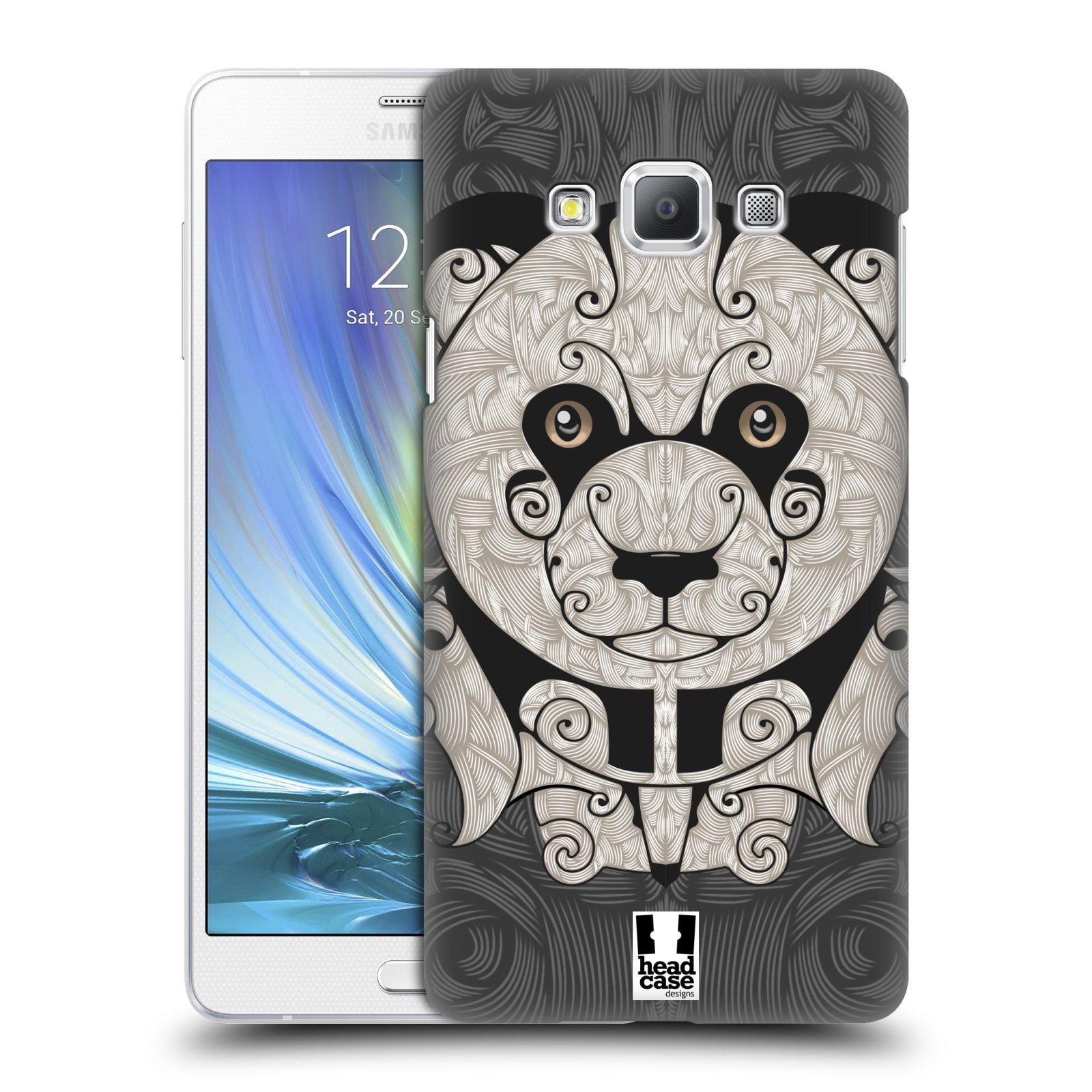 HEAD CASE plastový obal na mobil SAMSUNG GALAXY A7 vzor kudrlinky zvíře panda