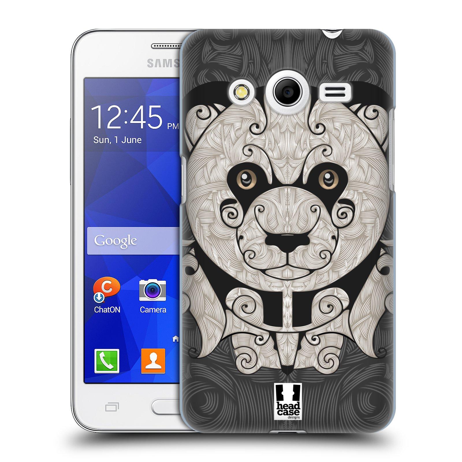 HEAD CASE plastový obal na mobil SAMSUNG GALAXY Core 2 (G355H) vzor kudrlinky zvíře panda