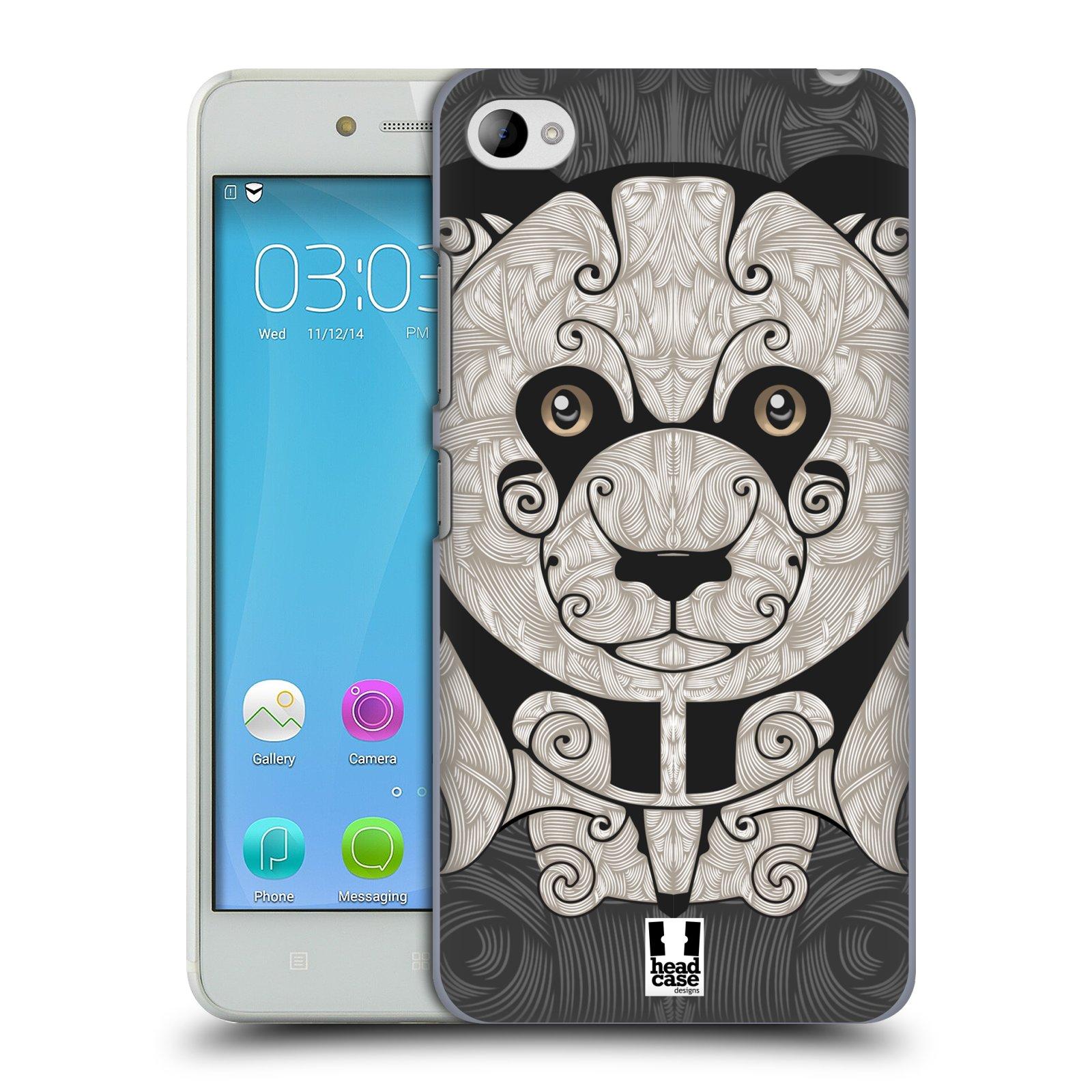 HEAD CASE pevný plastový obal na mobil LENOVO S90 vzor kudrlinky zvíře panda