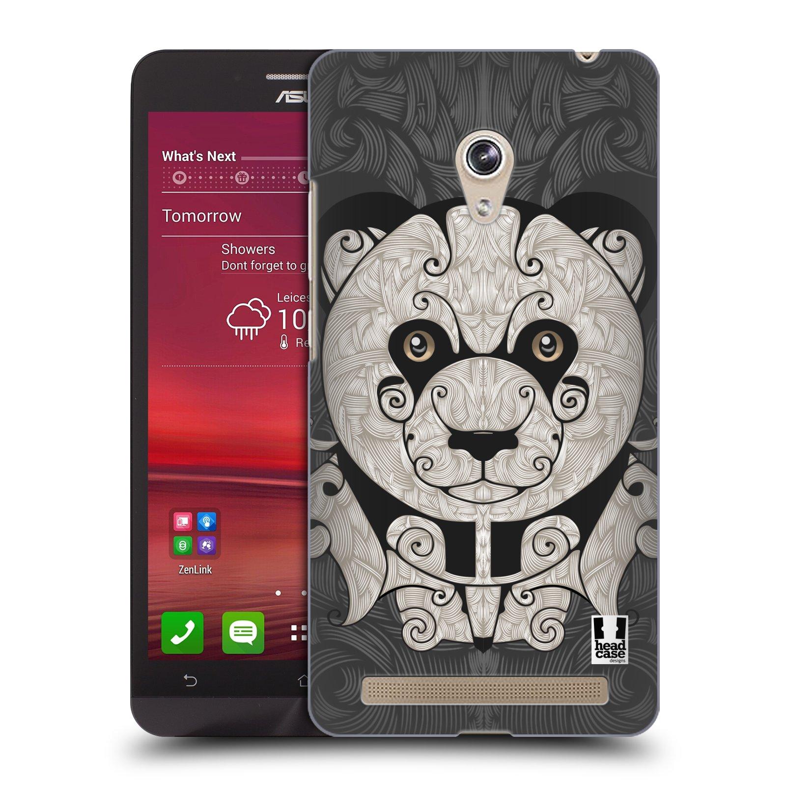 HEAD CASE plastový obal na mobil Asus Zenfone 6 vzor kudrlinky zvíře panda