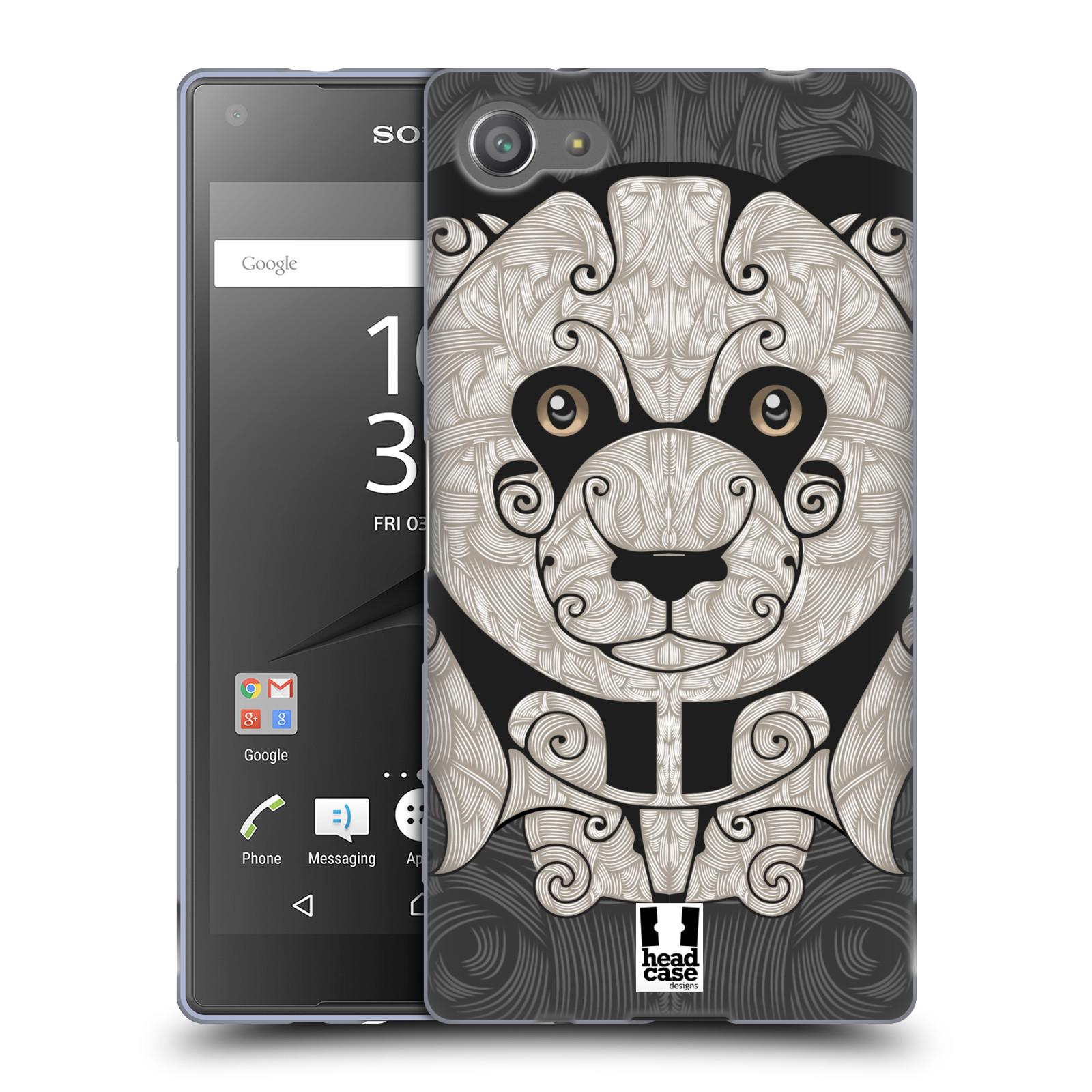 HEAD CASE silikonový obal na mobil Sony Xperia Z5 COMPACT vzor kudrlinky zvíře panda