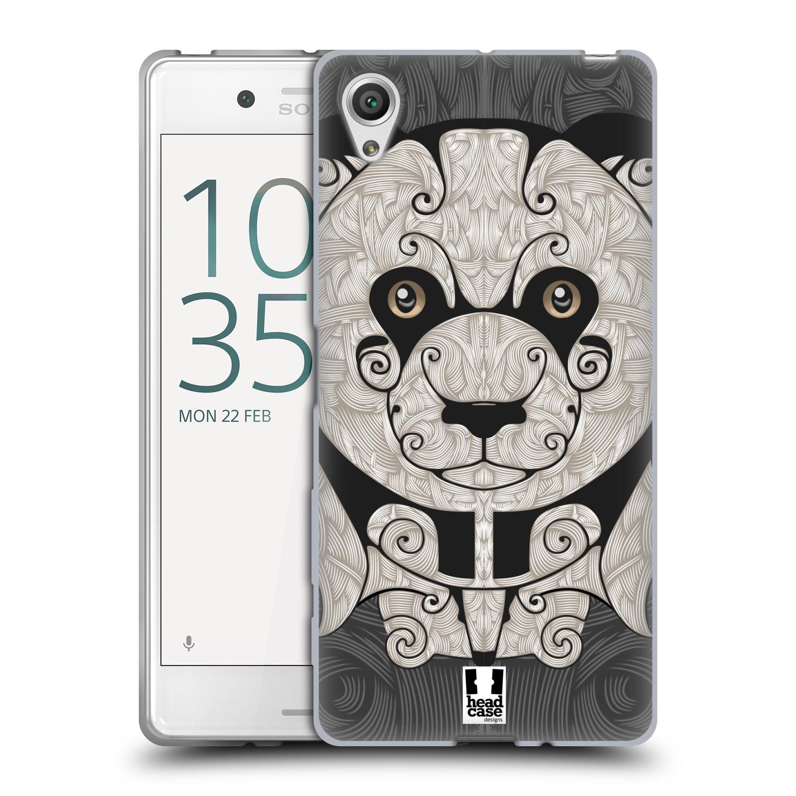HEAD CASE silikonový obal na mobil Sony Xperia X / X DUAL vzor kudrlinky zvíře panda