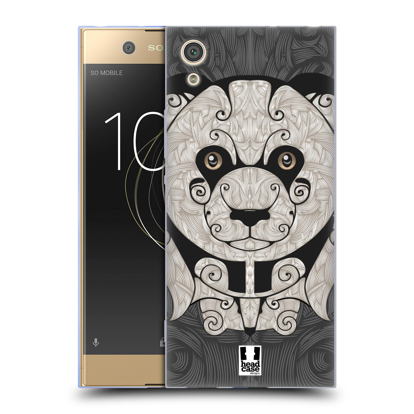 HEAD CASE silikonový obal na mobil Sony Xperia XA1 / XA1 DUAL SIM vzor kudrlinky zvíře panda