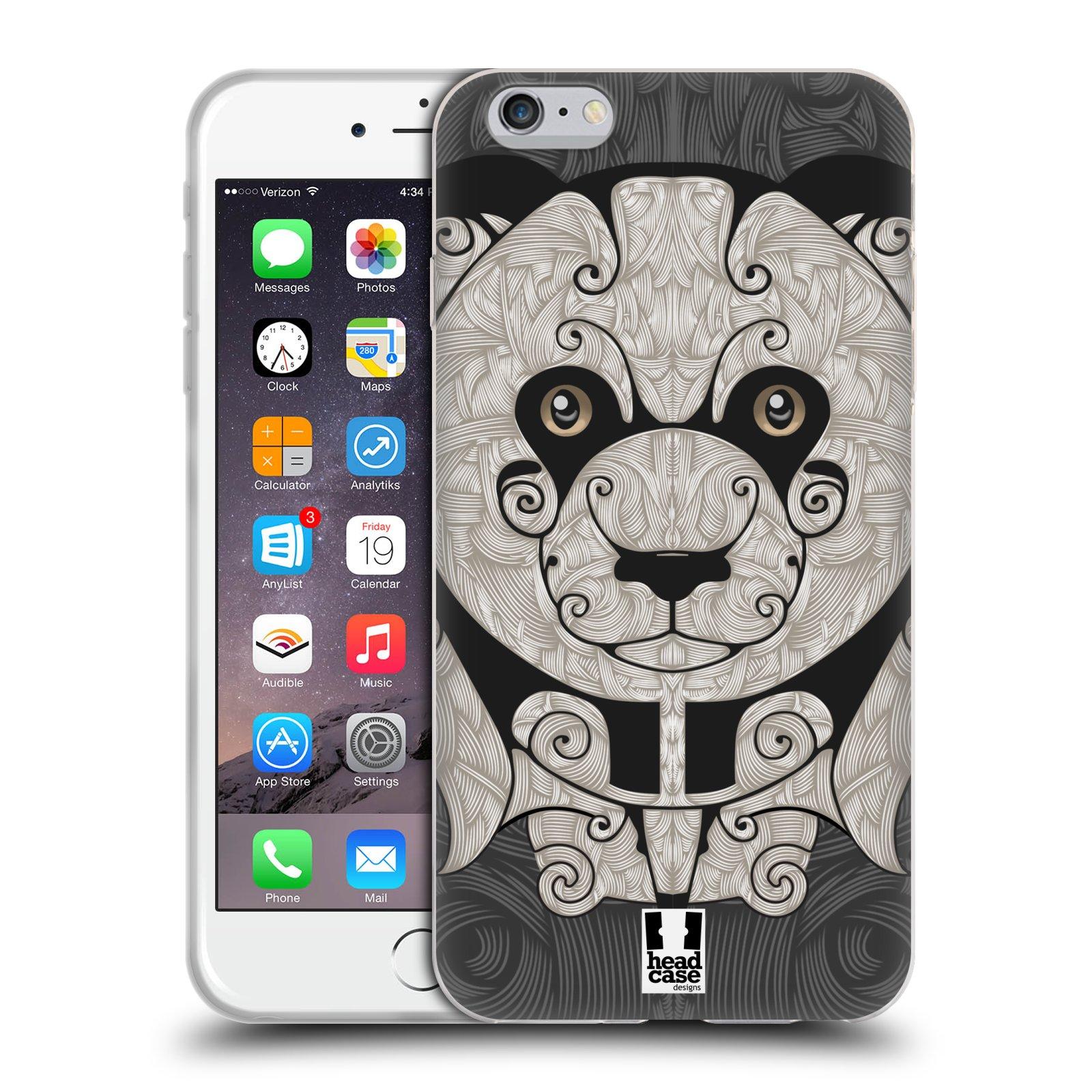 HEAD CASE silikonový obal na mobil Apple Iphone 6 PLUS/ 6S PLUS vzor kudrlinky zvíře panda