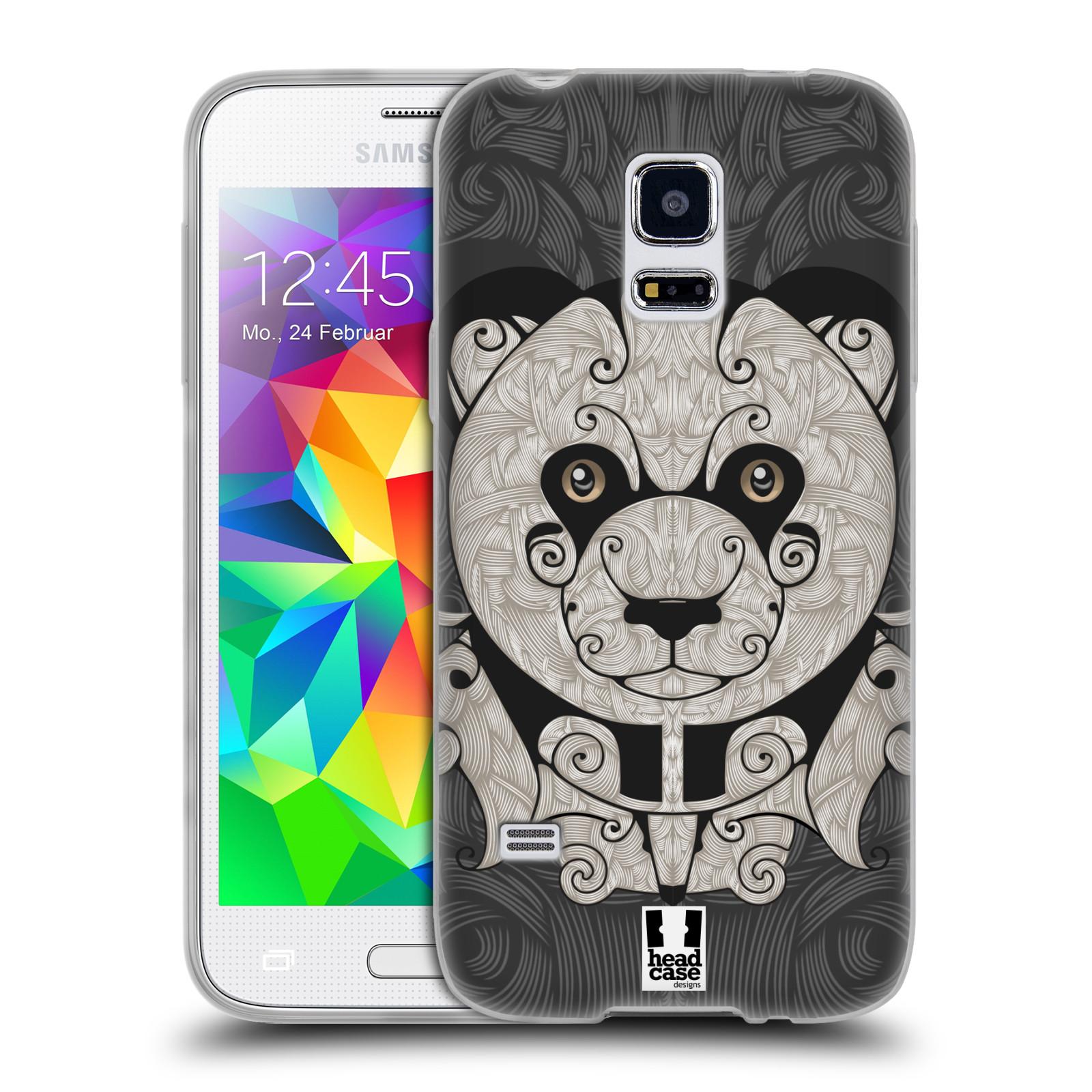 HEAD CASE silikonový obal na mobil Samsung Galaxy S5 MINI vzor kudrlinky zvíře panda