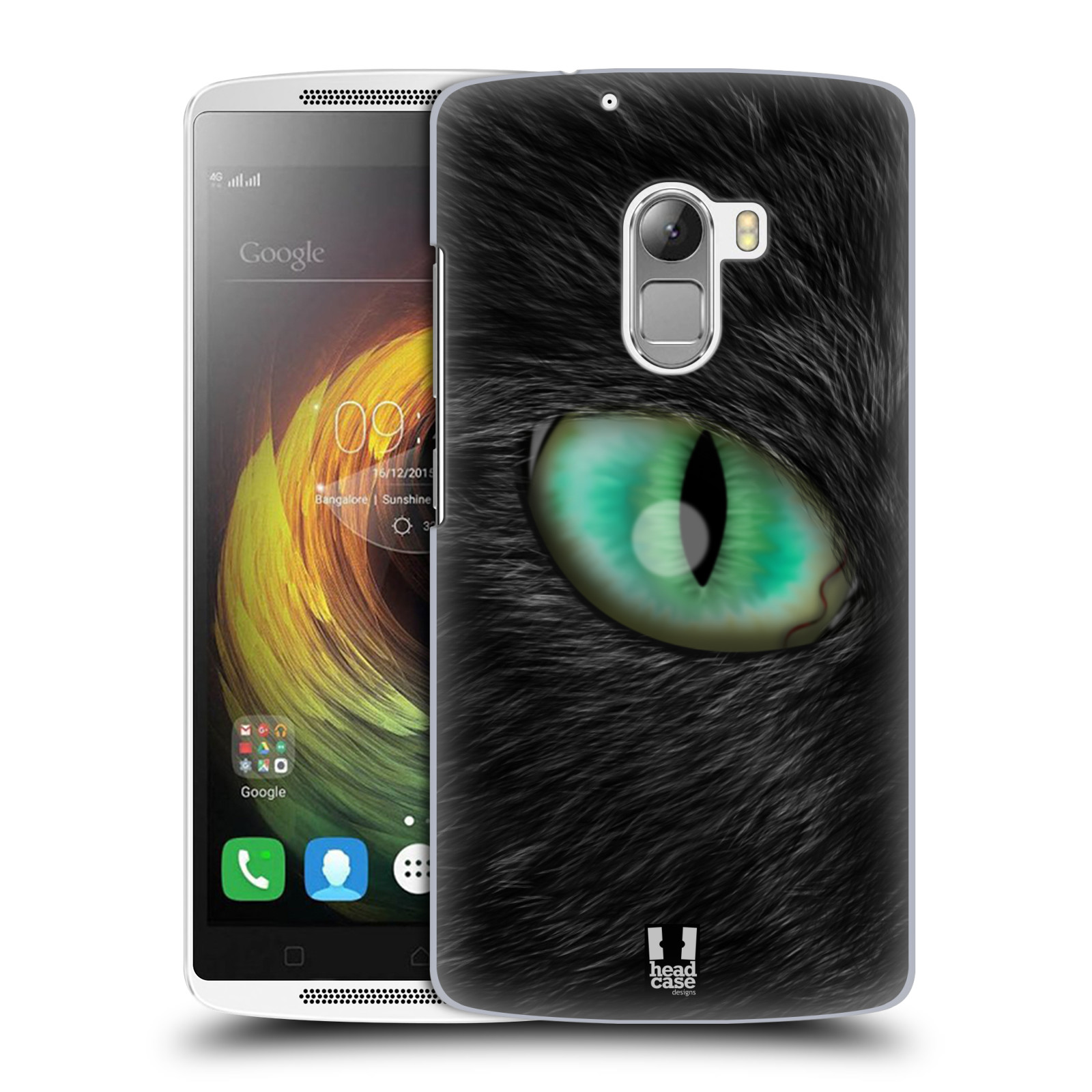 HEAD CASE pevný plastový obal na mobil LENOVO A7010 / A7010 DUAL / K4 Note / Vibe X3 lite vzor pohled zvířete oko kočka
