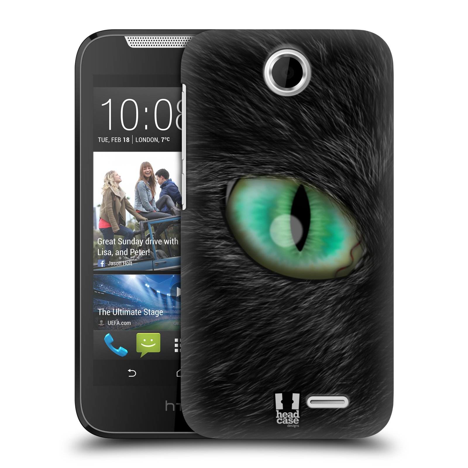 HEAD CASE plastový obal na mobil HTC Desire 310 vzor pohled zvířete oko kočka