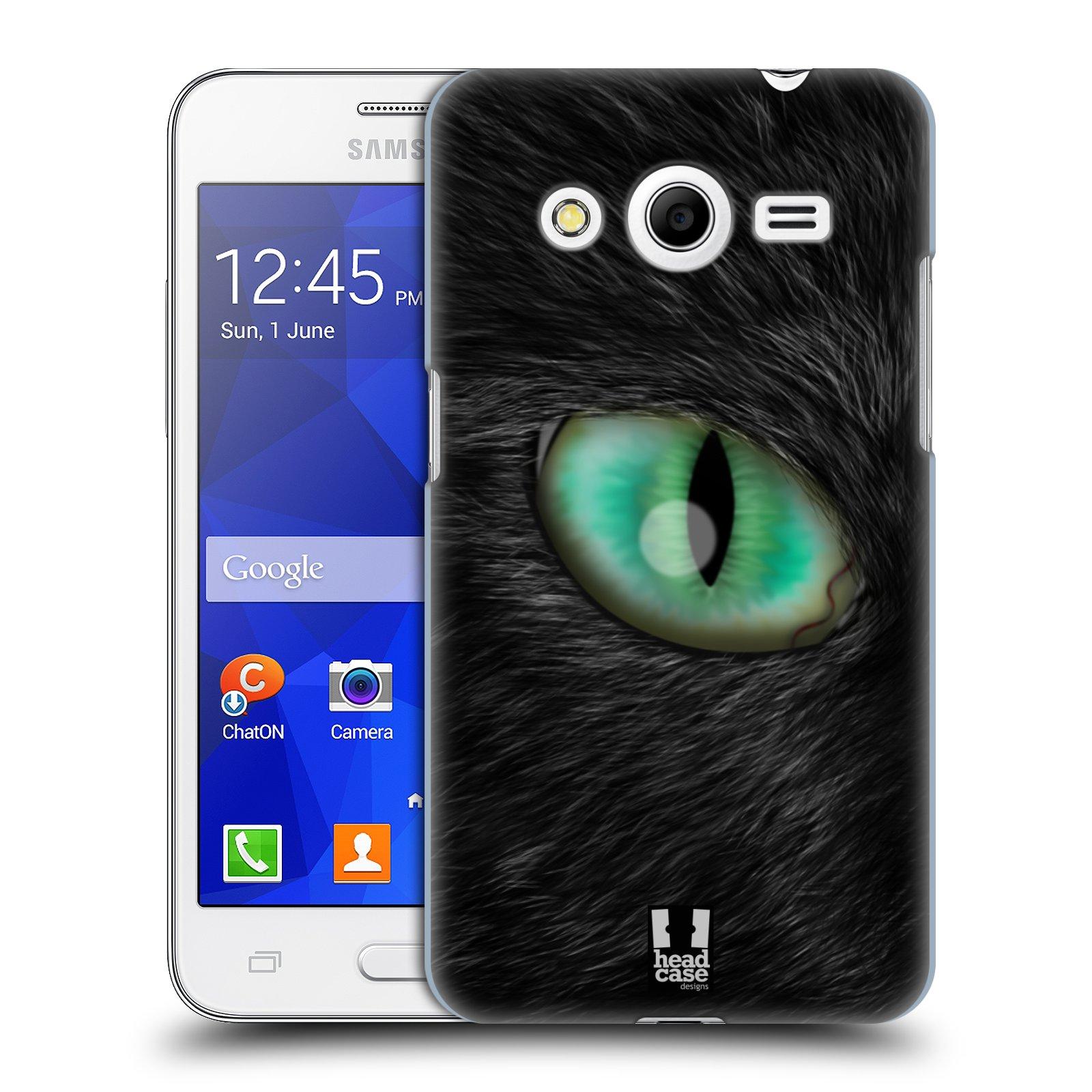 HEAD CASE plastový obal na mobil SAMSUNG GALAXY Core 2 (G355H) vzor pohled zvířete oko kočka