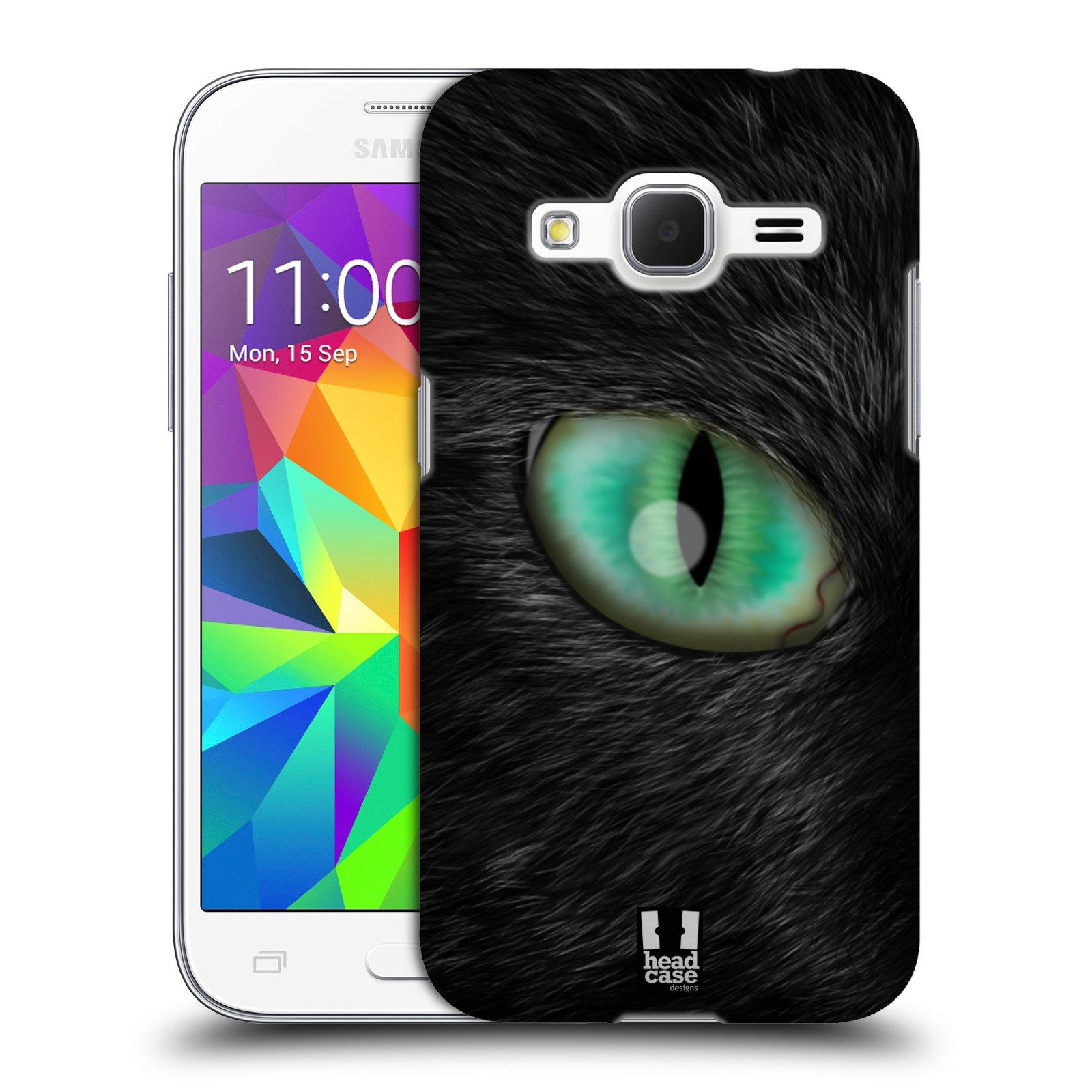 HEAD CASE plastový obal na mobil SAMSUNG GALAXY Core Prime (Core Prime VE) vzor pohled zvířete oko kočka