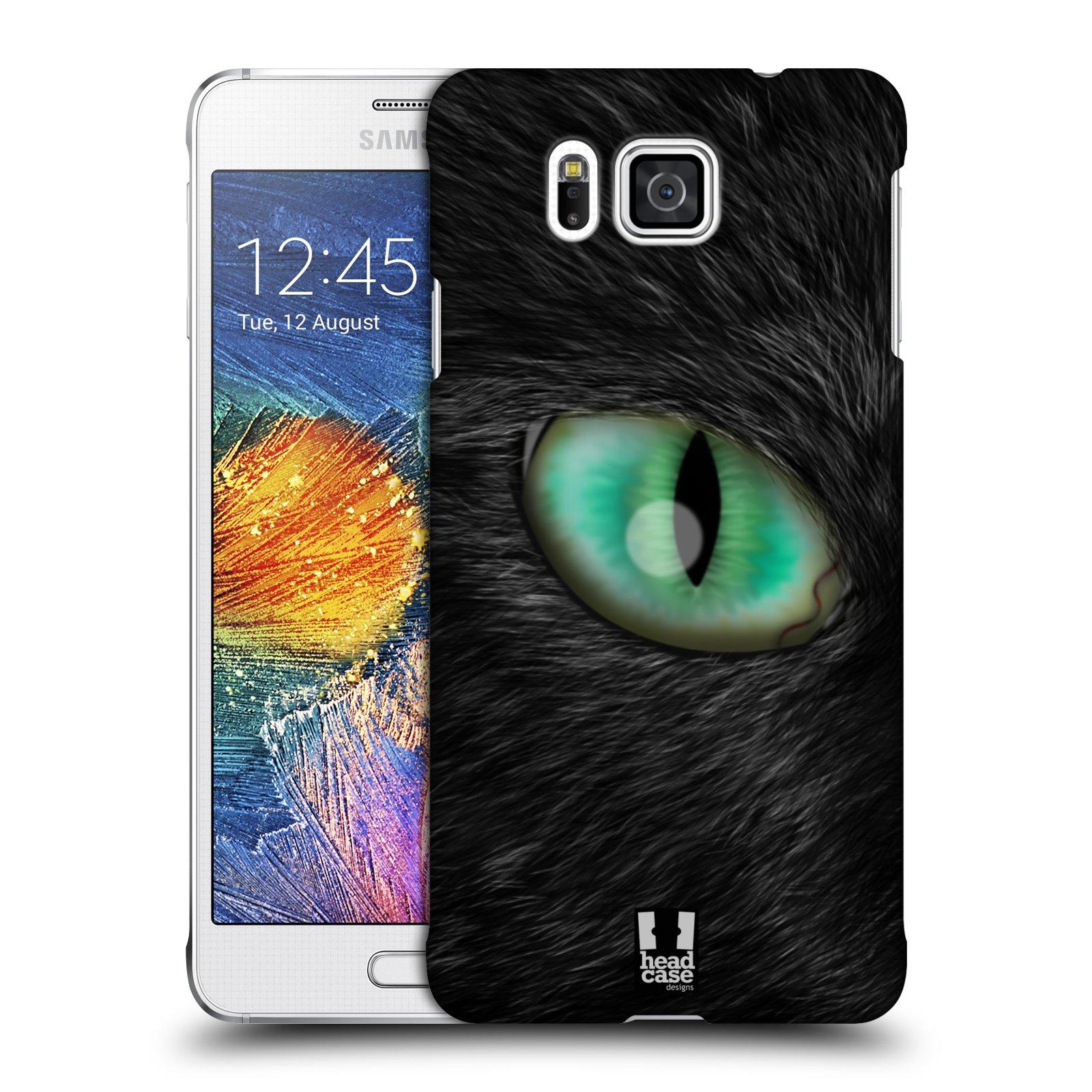 HEAD CASE plastový obal na mobil SAMSUNG Galaxy Alpha (G850) vzor pohled zvířete oko kočka