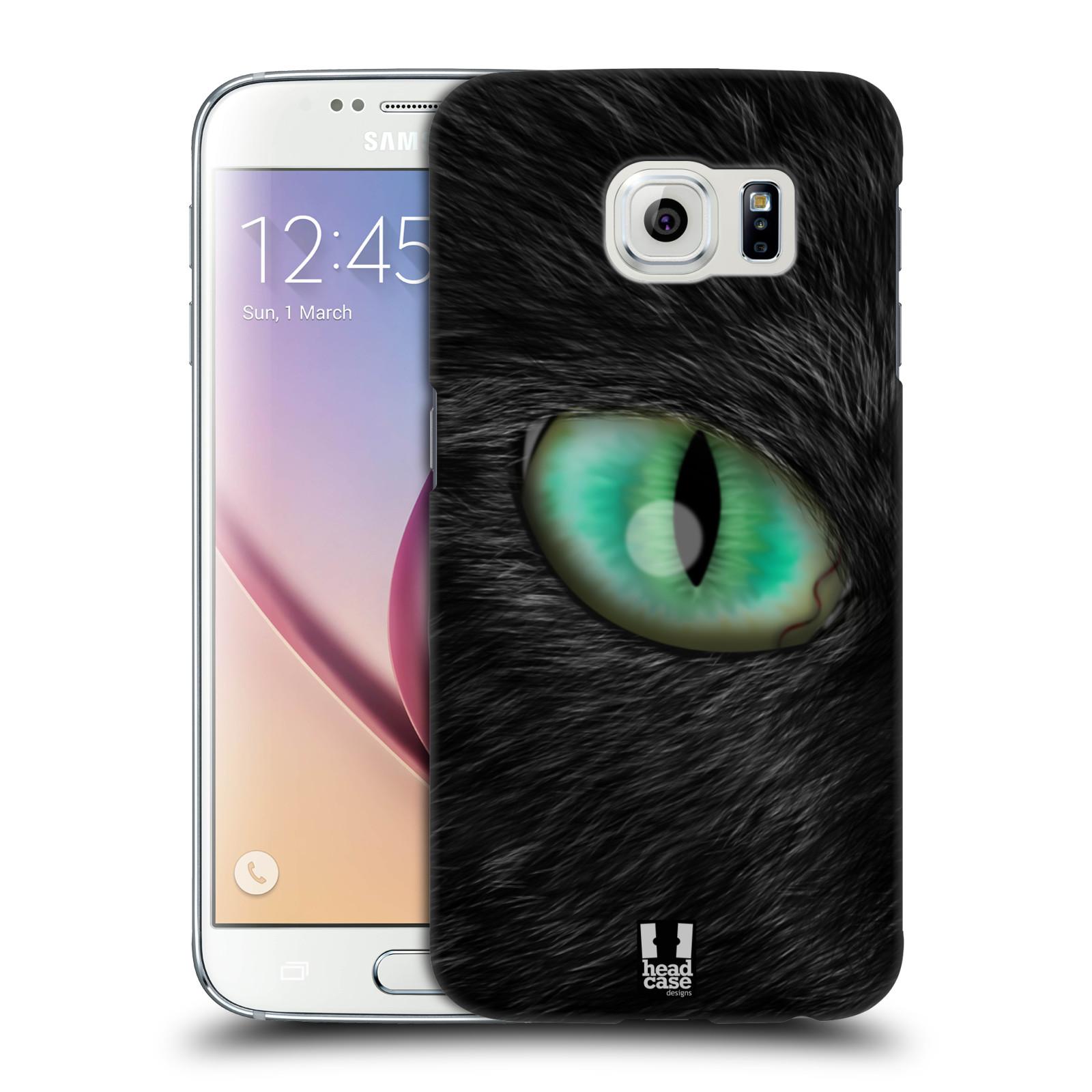 HEAD CASE plastový obal na mobil SAMSUNG Galaxy S6 (G9200, G920F) vzor pohled zvířete oko kočka
