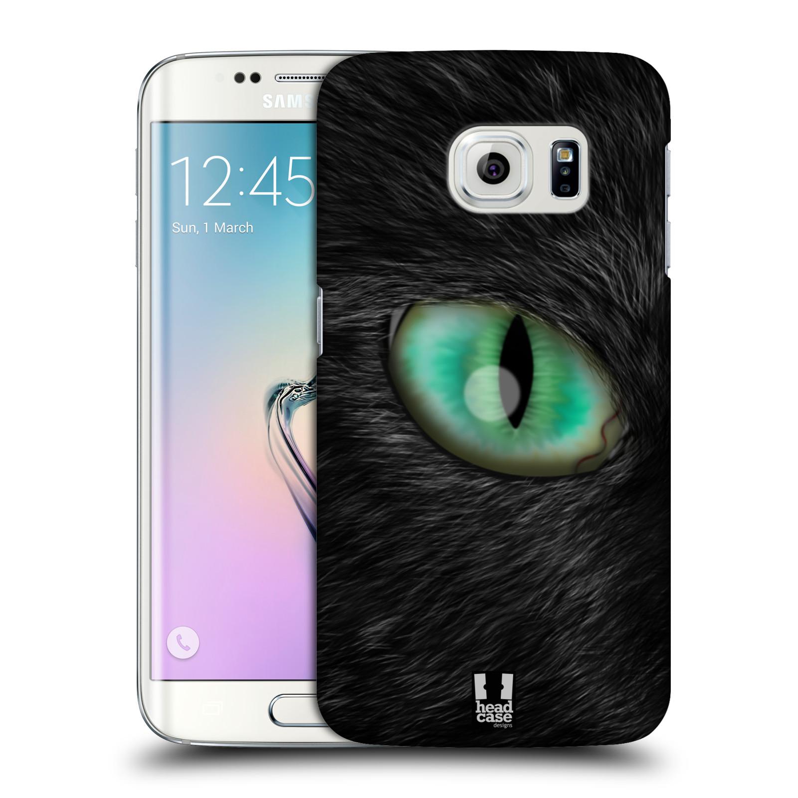 HEAD CASE plastový obal na mobil SAMSUNG Galaxy S6 EDGE (G9250, G925, G925F) vzor pohled zvířete oko kočka