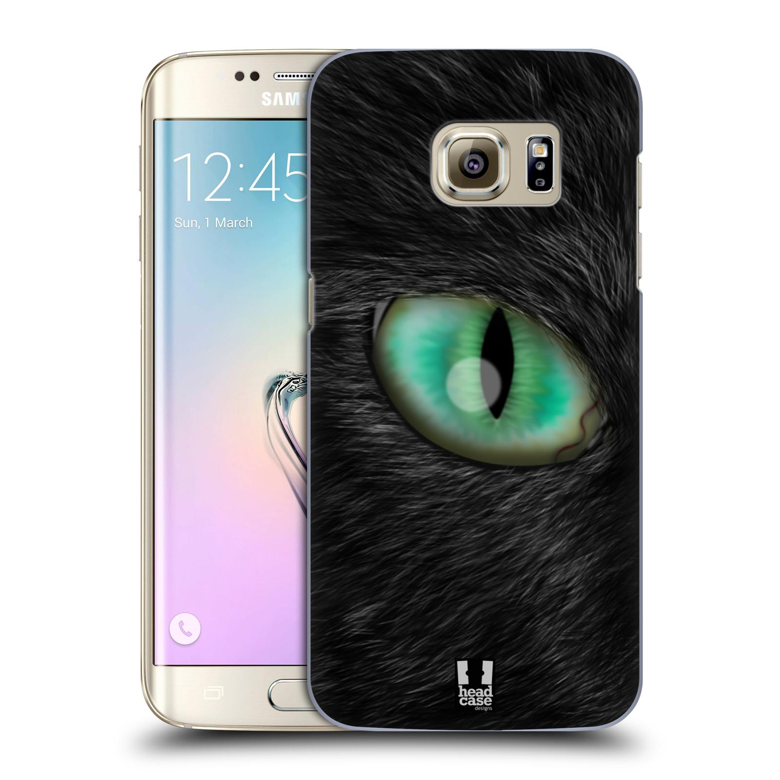 HEAD CASE plastový obal na mobil SAMSUNG GALAXY S7 EDGE vzor pohled zvířete oko kočka