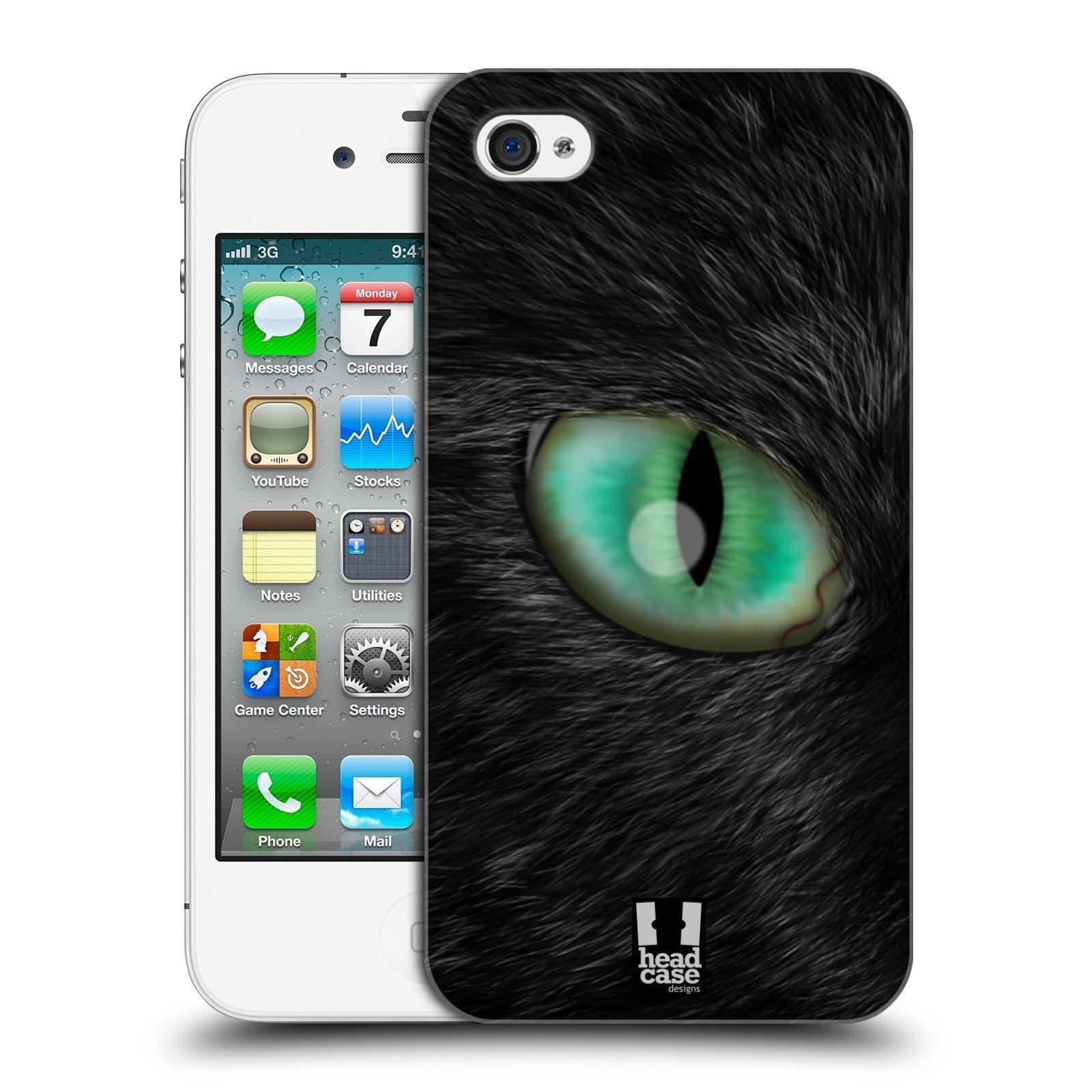 HEAD CASE plastový obal na mobil Apple Iphone 4/4S vzor pohled zvířete oko kočka