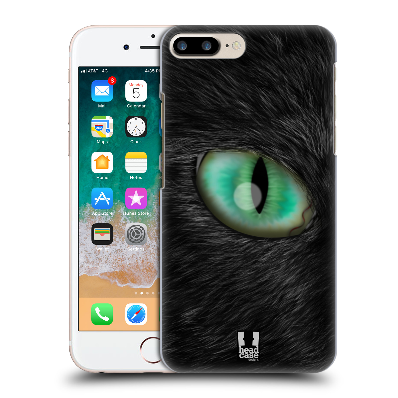 HEAD CASE plastový obal na mobil Apple Iphone 7 PLUS vzor pohled zvířete oko kočka