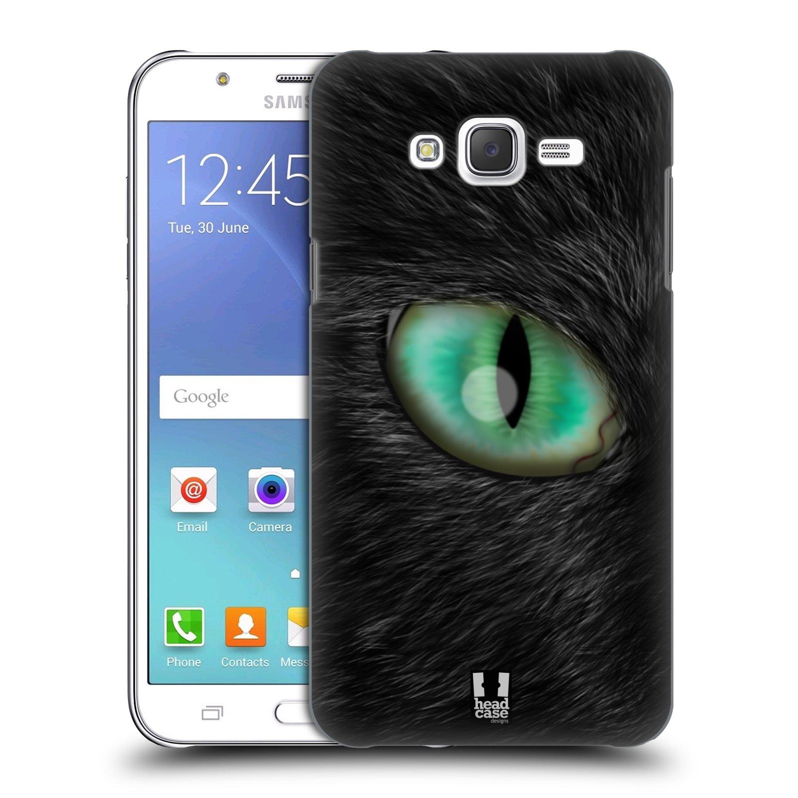 HEAD CASE plastový obal na mobil SAMSUNG Galaxy J7, J700 vzor pohled zvířete oko kočka