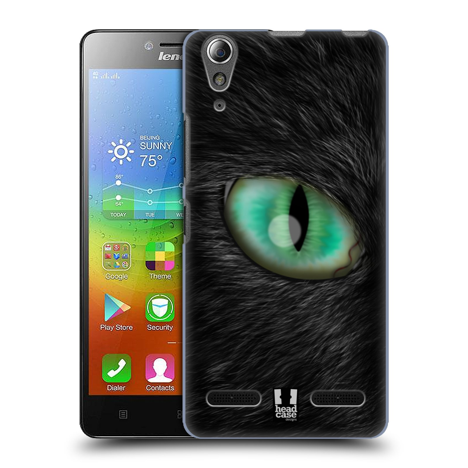 HEAD CASE pevný plastový obal na mobil LENOVO A6000 / A6000 PLUS vzor pohled zvířete oko kočka
