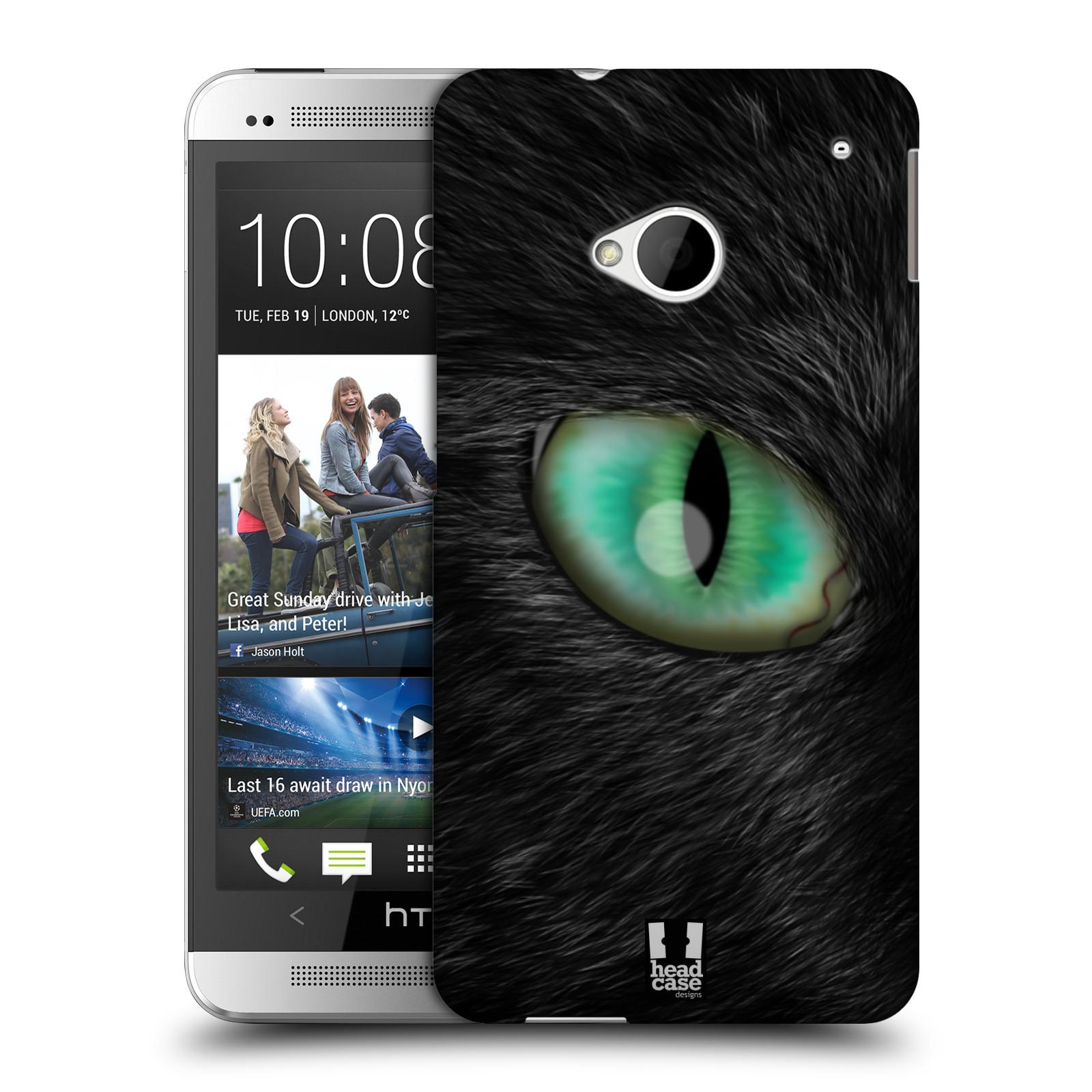 HEAD CASE plastový obal na mobil HTC One (M7) vzor pohled zvířete oko kočka