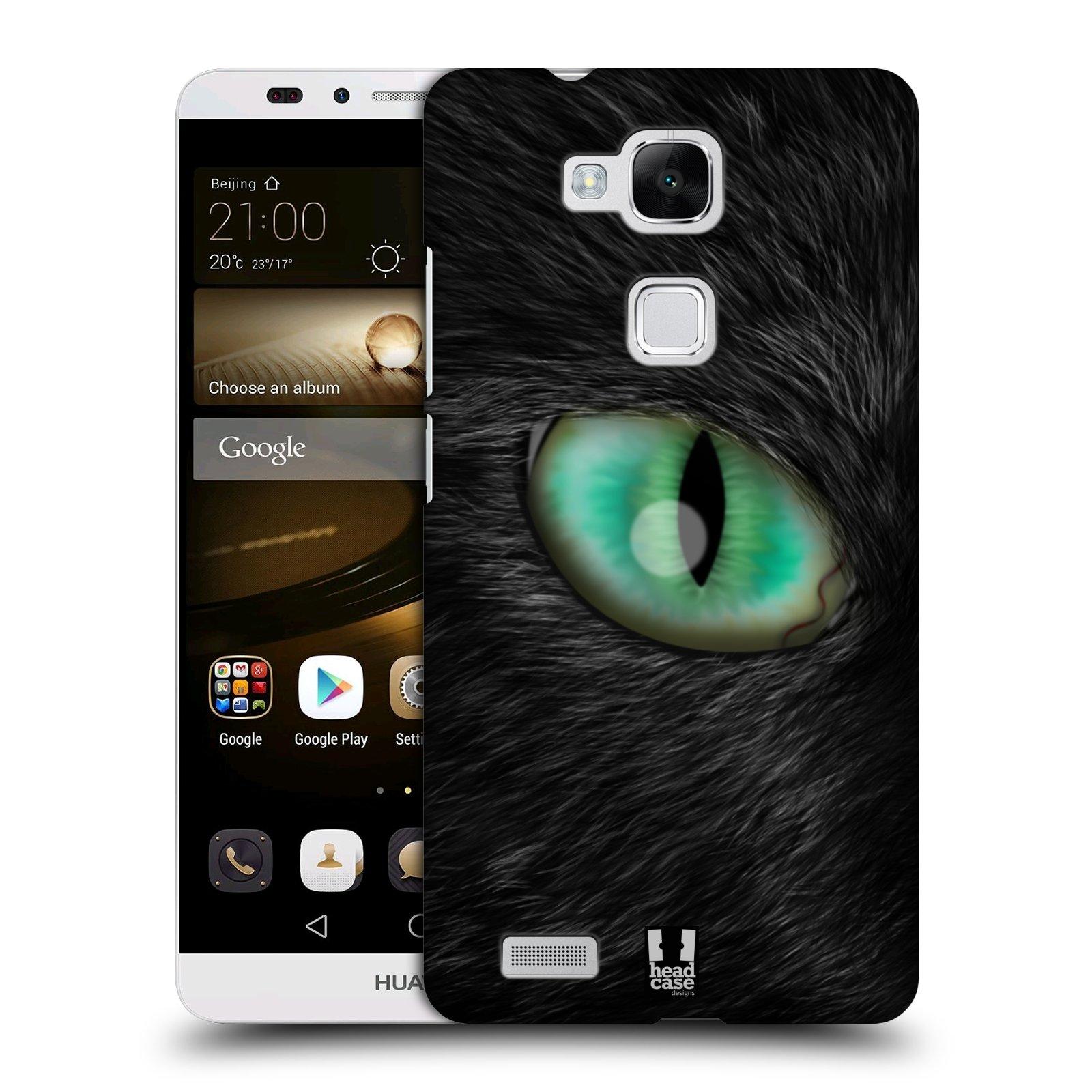 HEAD CASE plastový obal na mobil Huawei Mate 7 vzor pohled zvířete oko kočka
