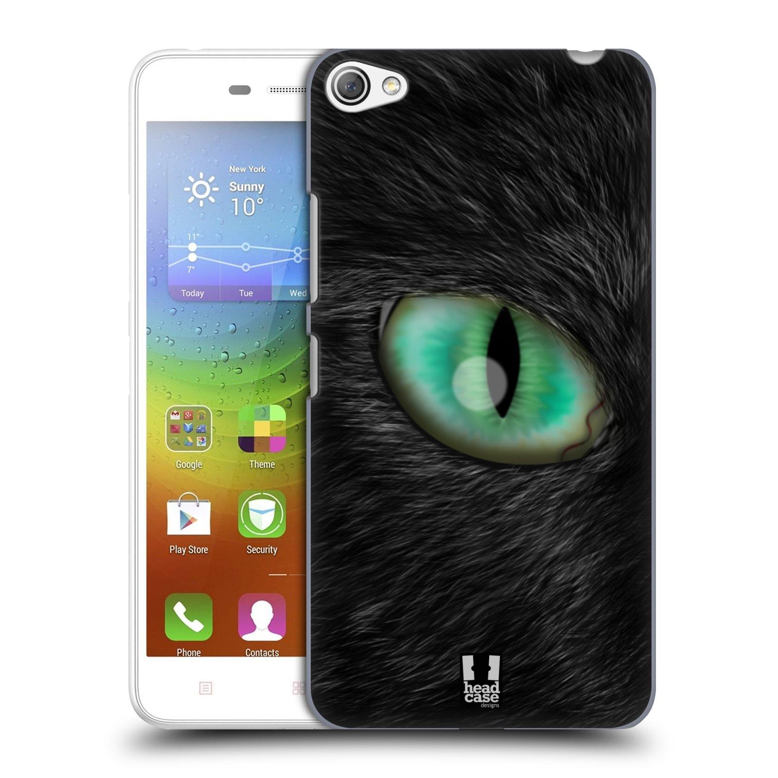 HEAD CASE pevný plastový obal na mobil LENOVO S60 / LENOVO S60 DUAL SIM vzor pohled zvířete oko kočka