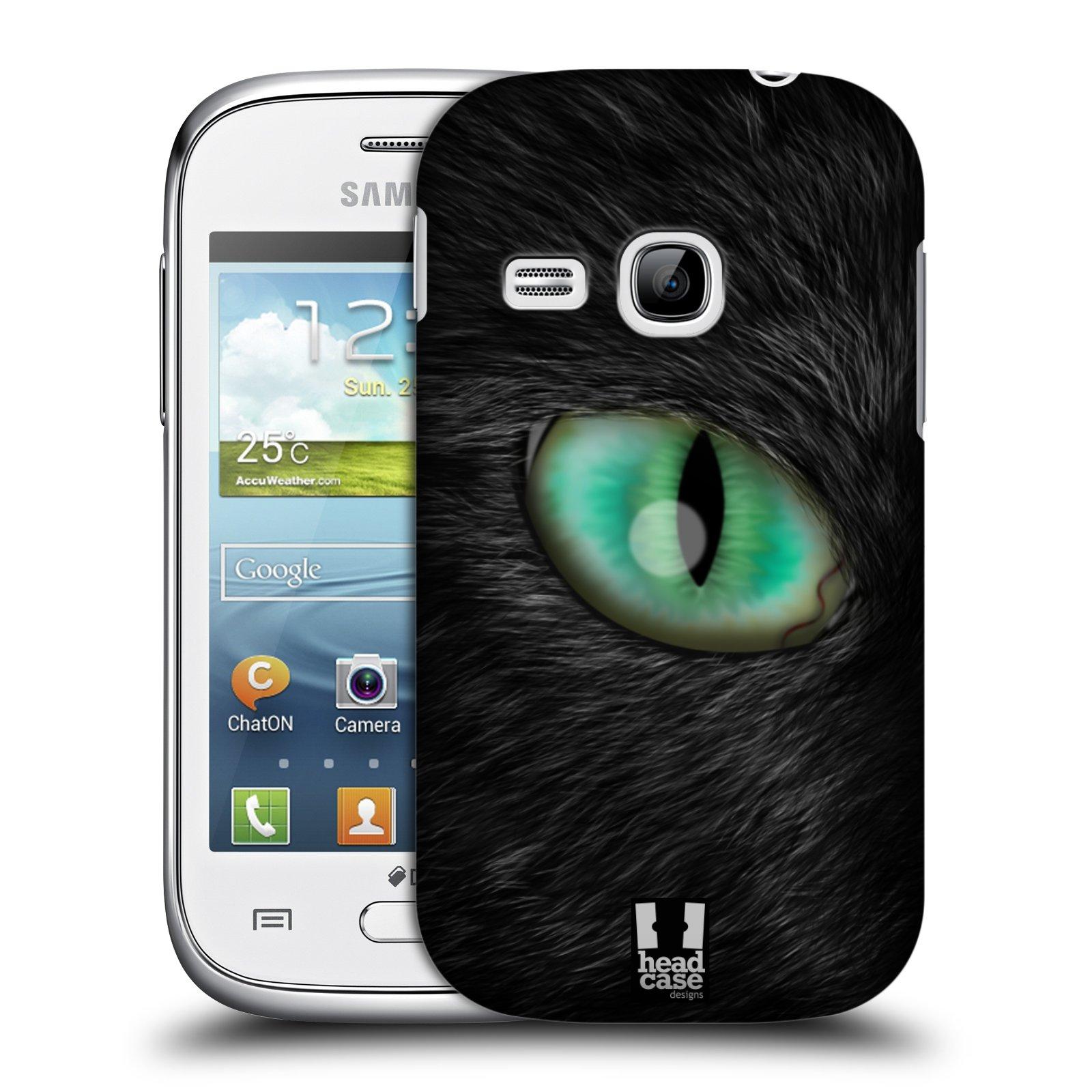 HEAD CASE plastový obal na mobil SAMSUNG Galaxy Young S6310 vzor pohled zvířete oko kočka