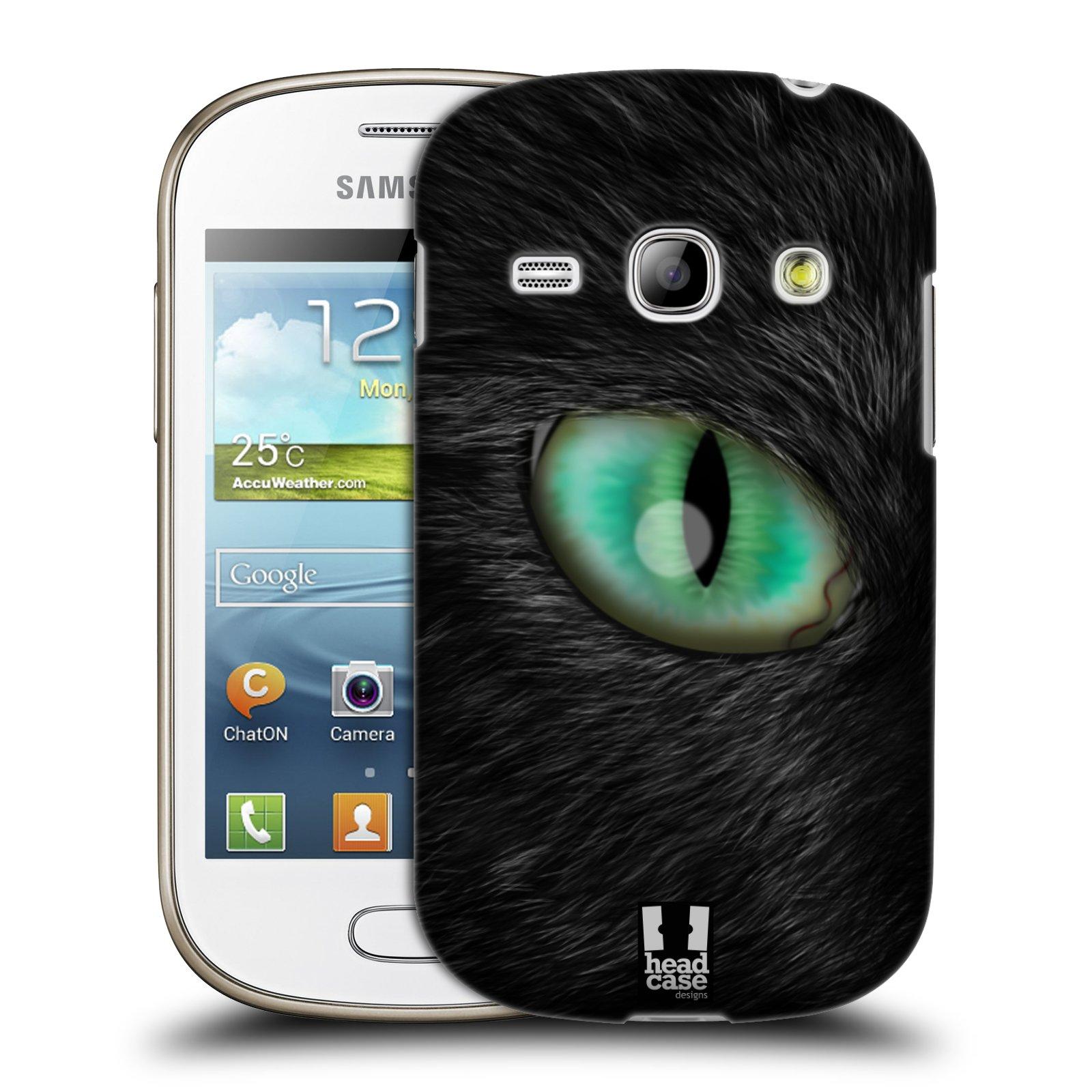 HEAD CASE plastový obal na mobil SAMSUNG GALAXY FAME (S6810) vzor pohled zvířete oko kočka