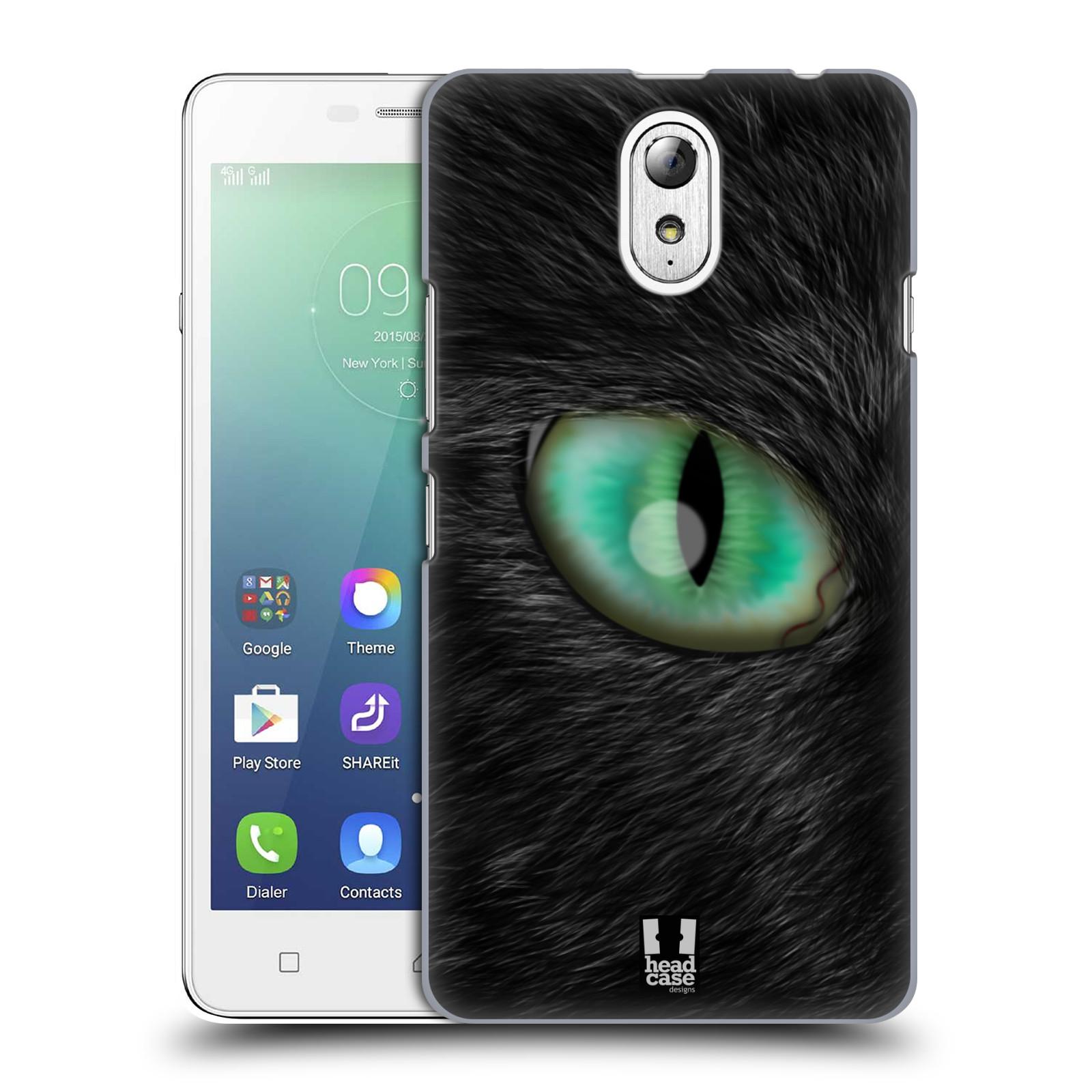 HEAD CASE pevný plastový obal na mobil LENOVO VIBE P1m / LENOVO VIBE p1m DUAL SIM vzor pohled zvířete oko kočka