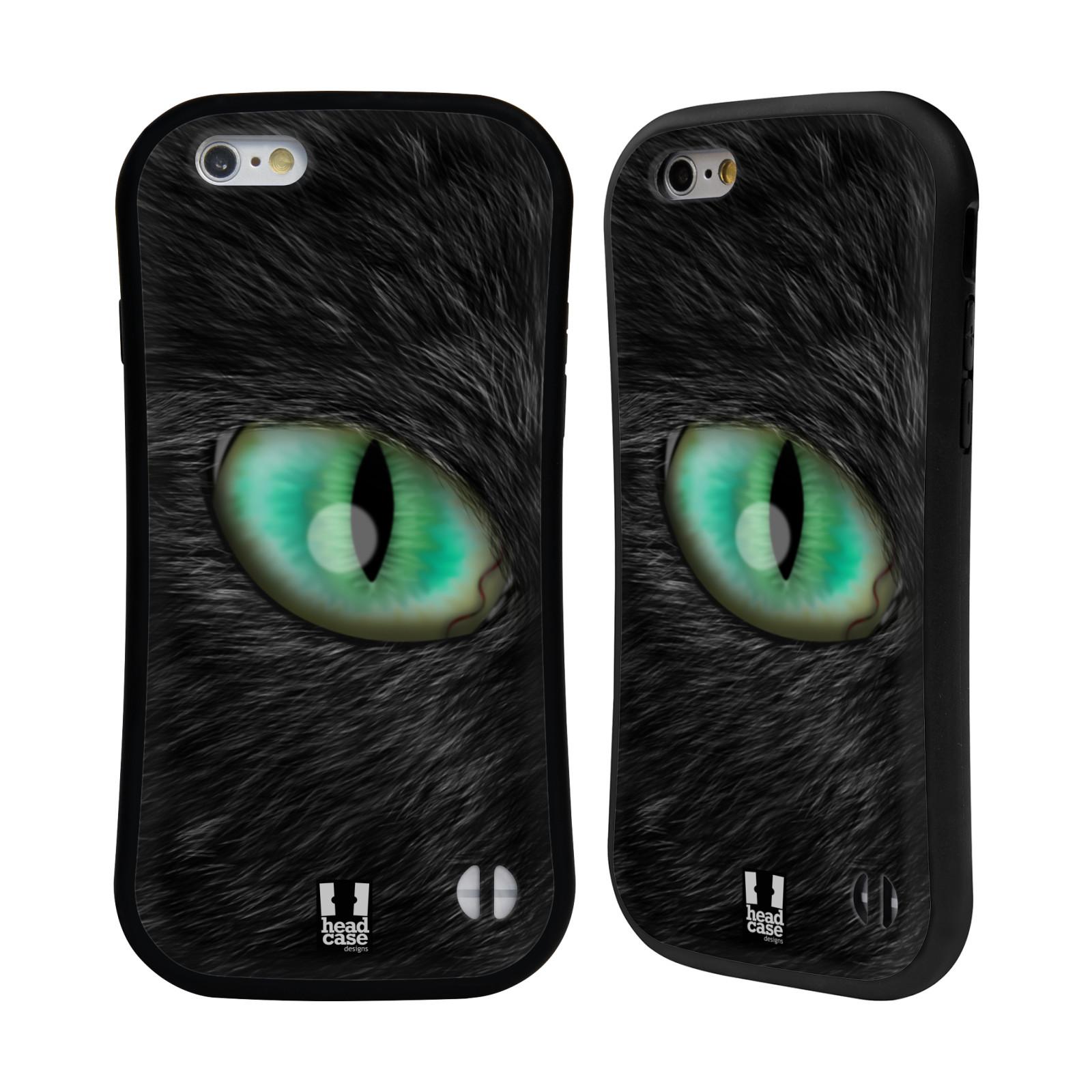 HEAD CASE silikon/plast odolný obal na mobil Apple Iphone 6/6S vzor pohled zvířete oko kočka