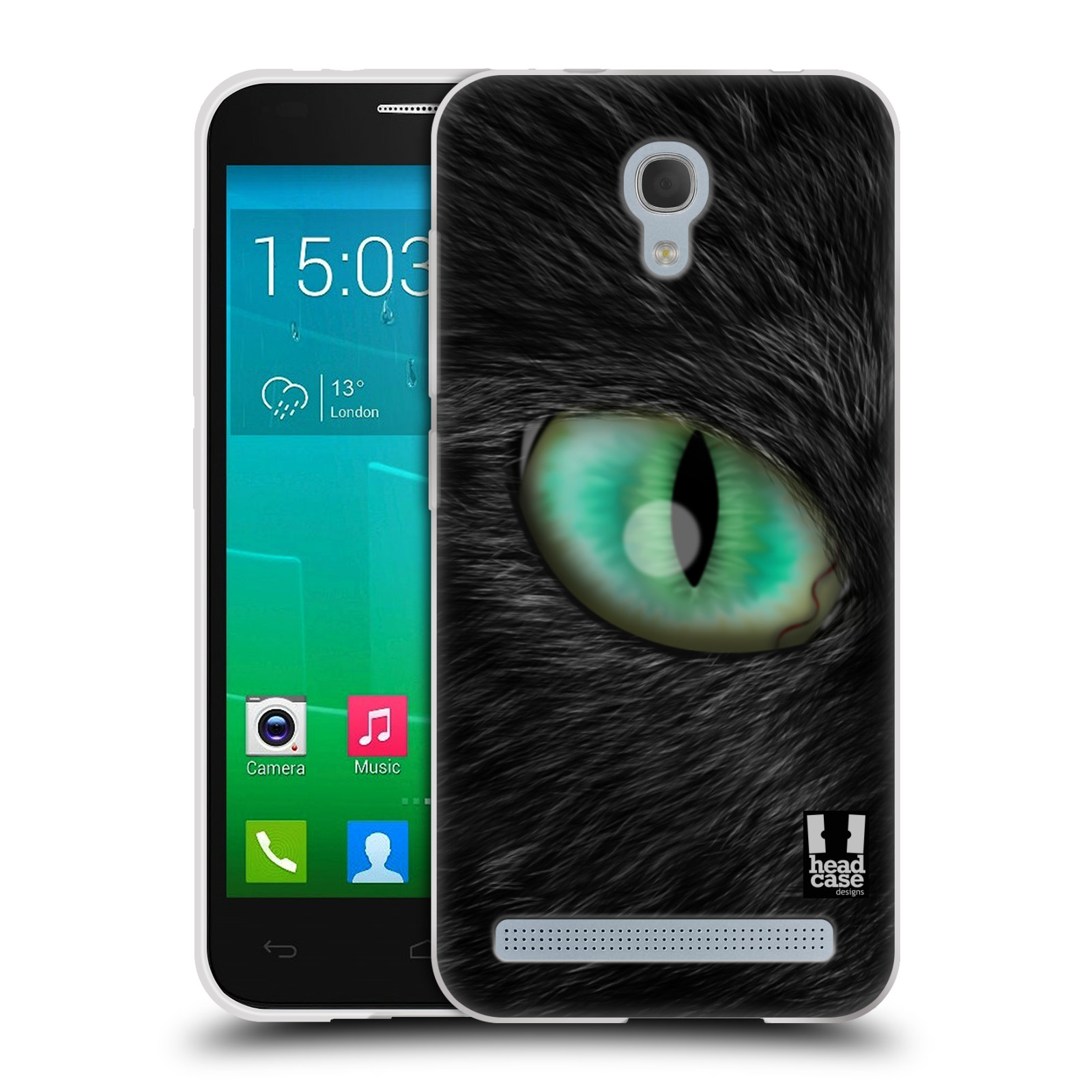 HEAD CASE silikonový obal na mobil Alcatel Idol 2 MINI S 6036Y vzor pohled zvířete oko kočka
