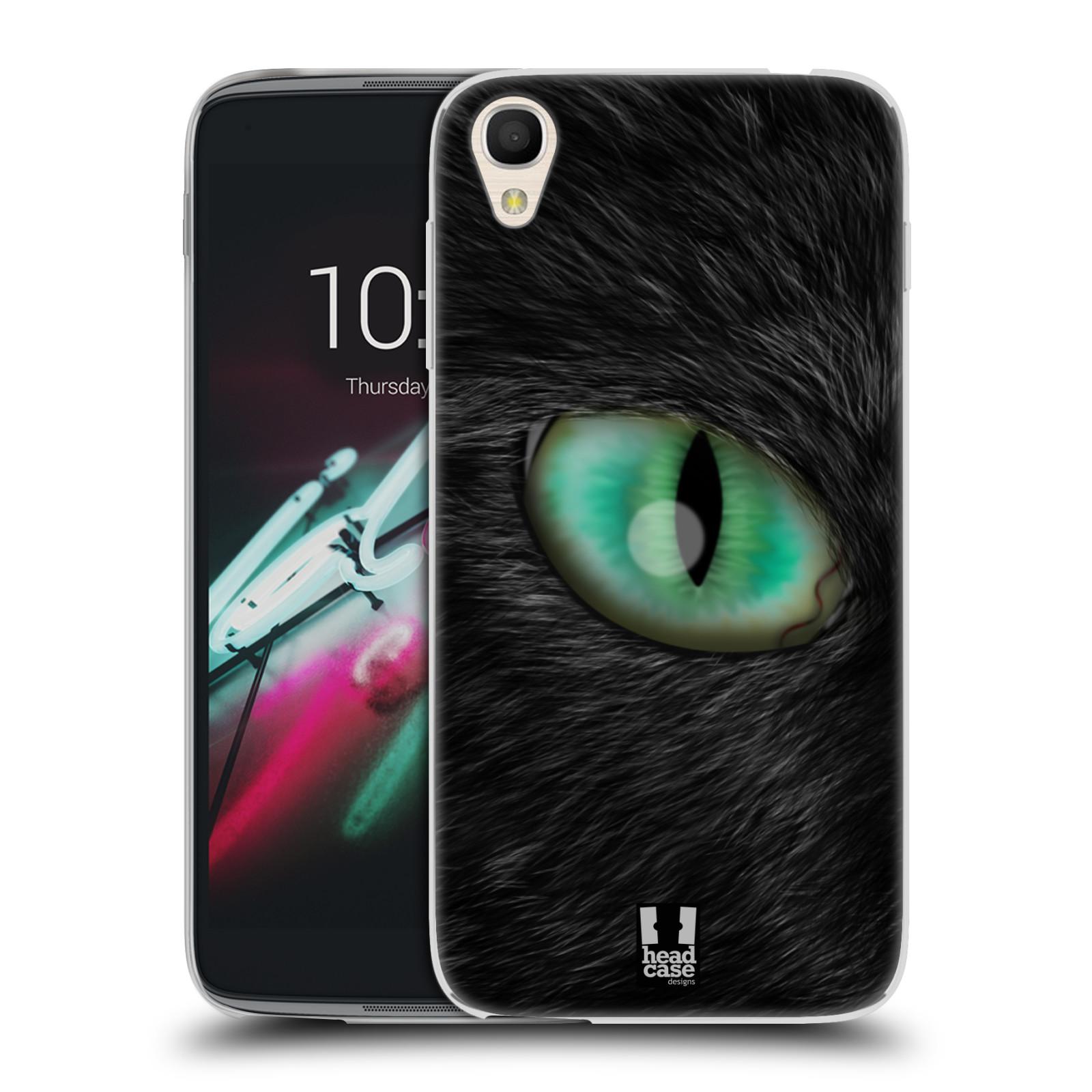 HEAD CASE silikonový obal na mobil Alcatel Idol 3 OT-6039Y (4.7) vzor pohled zvířete oko kočka