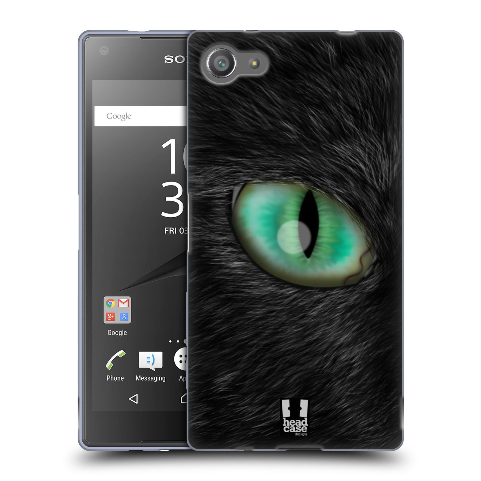 HEAD CASE silikonový obal na mobil Sony Xperia Z5 COMPACT vzor pohled zvířete oko kočka