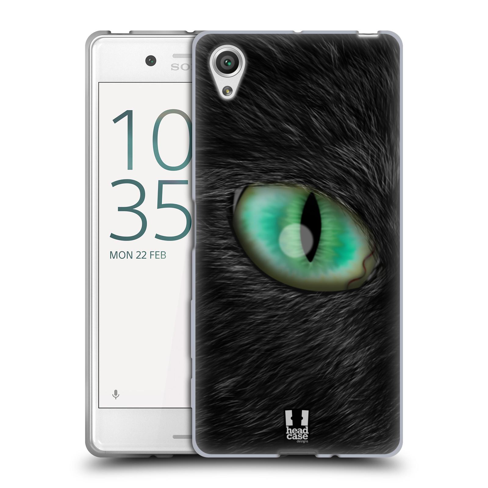 HEAD CASE silikonový obal na mobil Sony Xperia X / X DUAL vzor pohled zvířete oko kočka