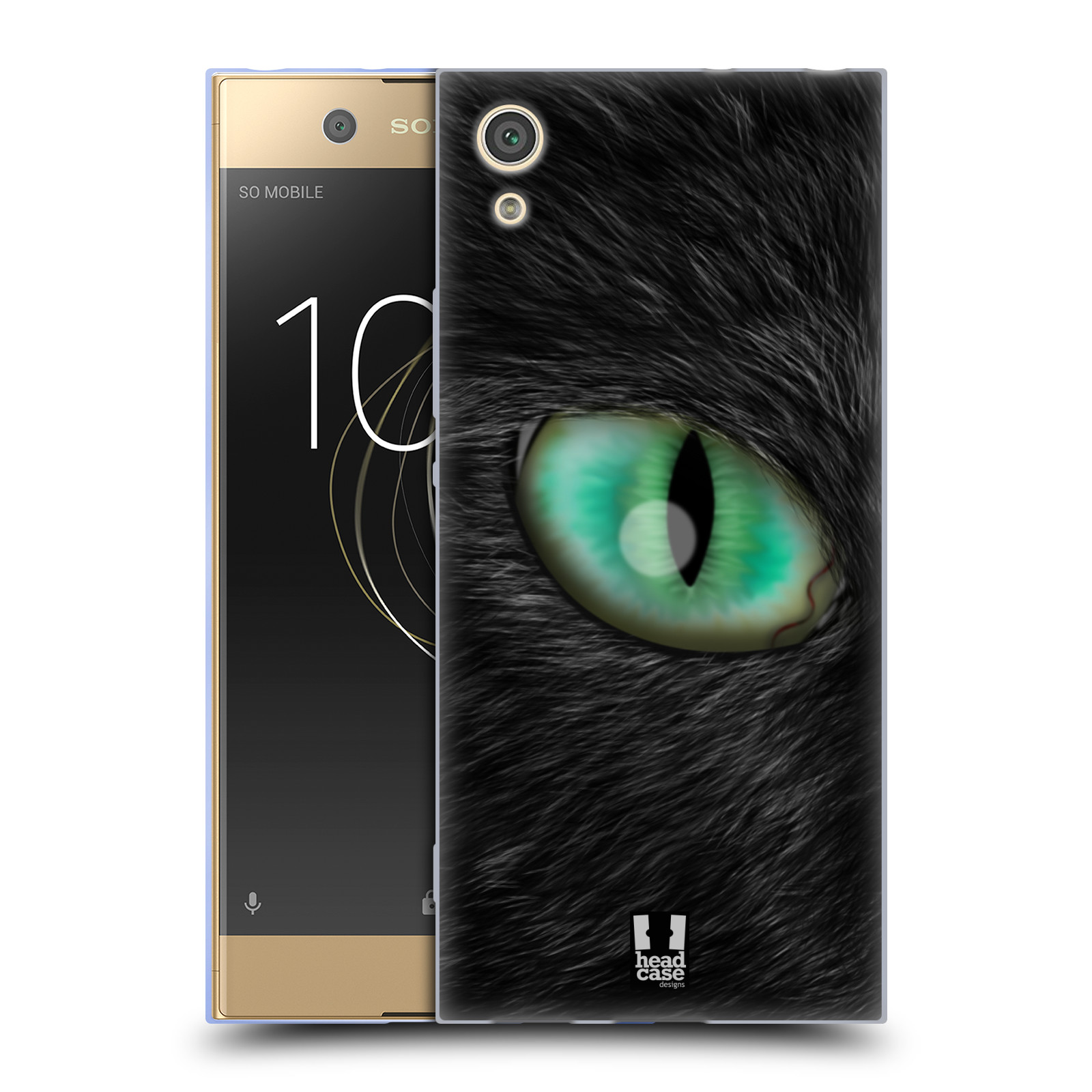 HEAD CASE silikonový obal na mobil Sony Xperia XA1 / XA1 DUAL SIM vzor pohled zvířete oko kočka