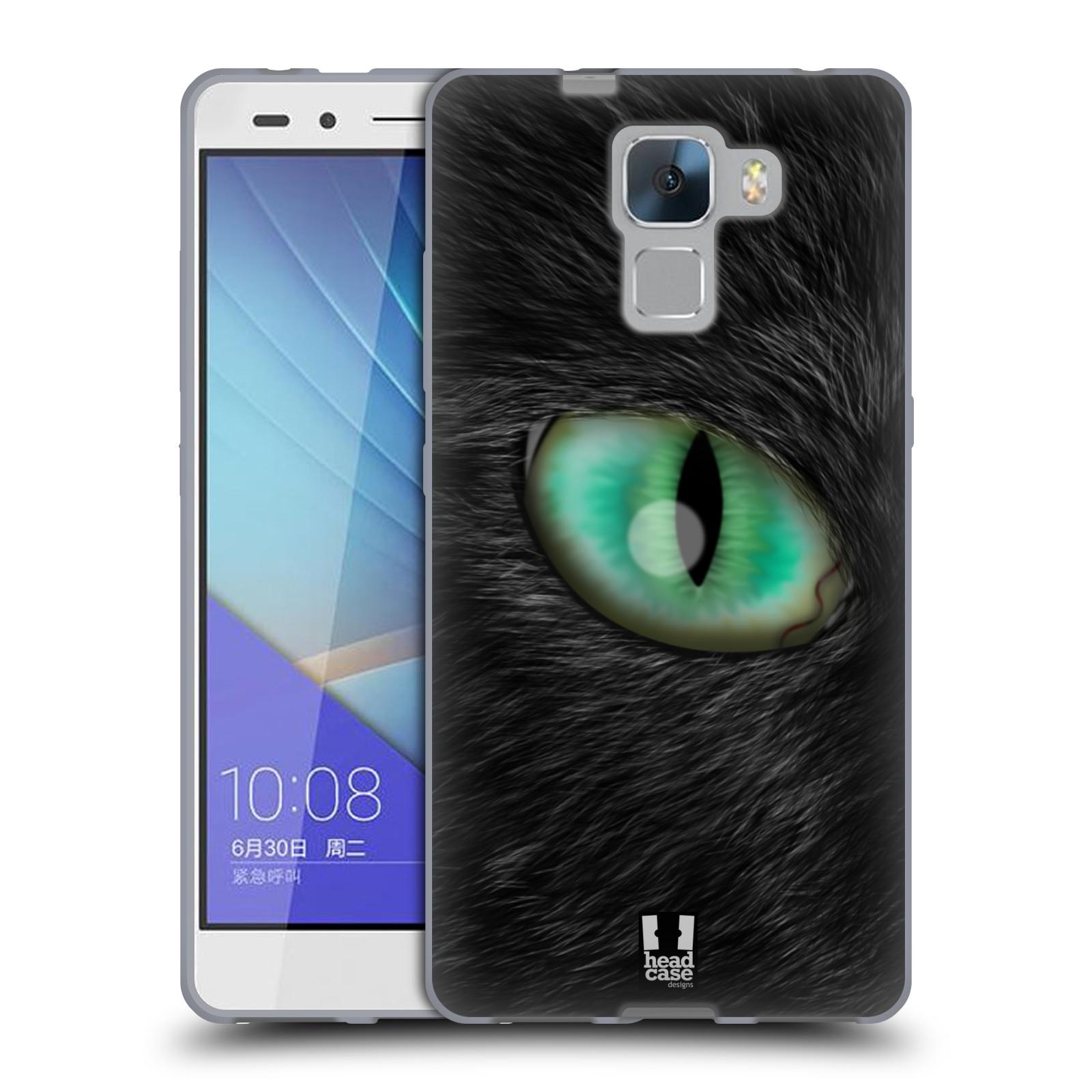 HEAD CASE silikonový obal na mobil HUAWEI HONOR 7 vzor pohled zvířete oko kočka