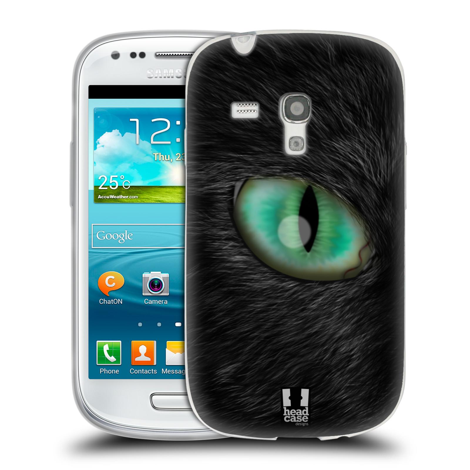 HEAD CASE silikonový obal na mobil Samsung Galaxy S3 MINI i8190 vzor pohled zvířete oko kočka