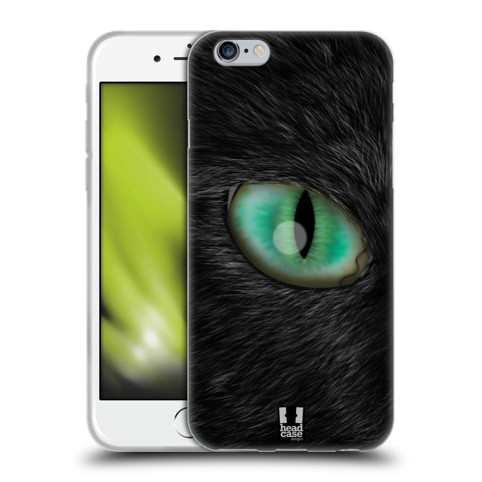 HEAD CASE silikonový obal na mobil Apple Iphone 6/6S vzor pohled zvířete oko kočka