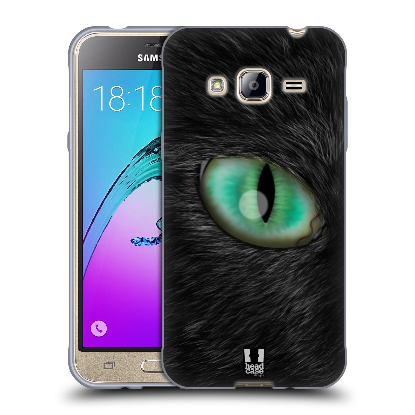 HEAD CASE silikonový obal na mobil Samsung Galaxy J3, J3 2016 vzor pohled zvířete oko kočka