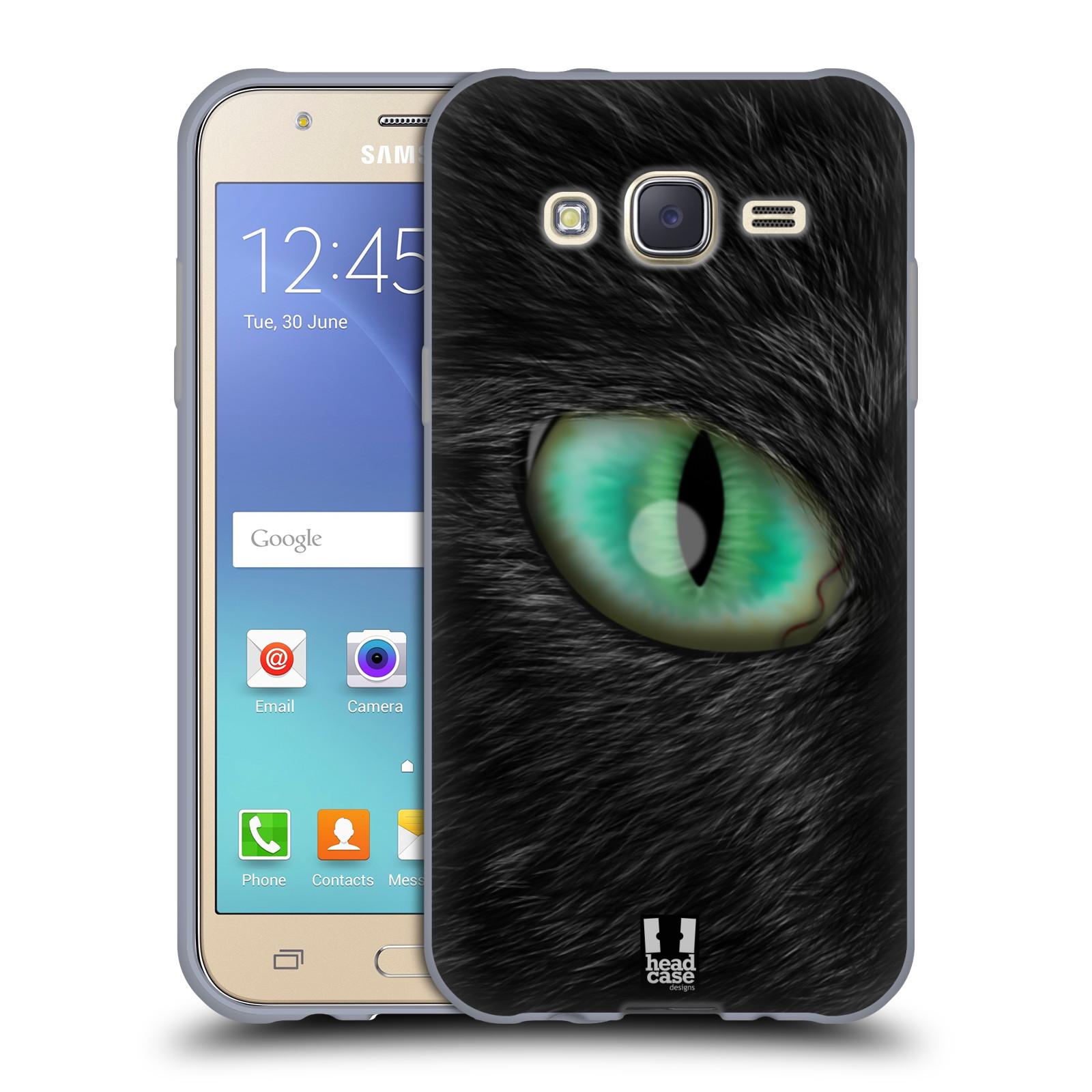 HEAD CASE silikonový obal na mobil Samsung Galaxy J5, J500, (J5 DUOS) vzor pohled zvířete oko kočka