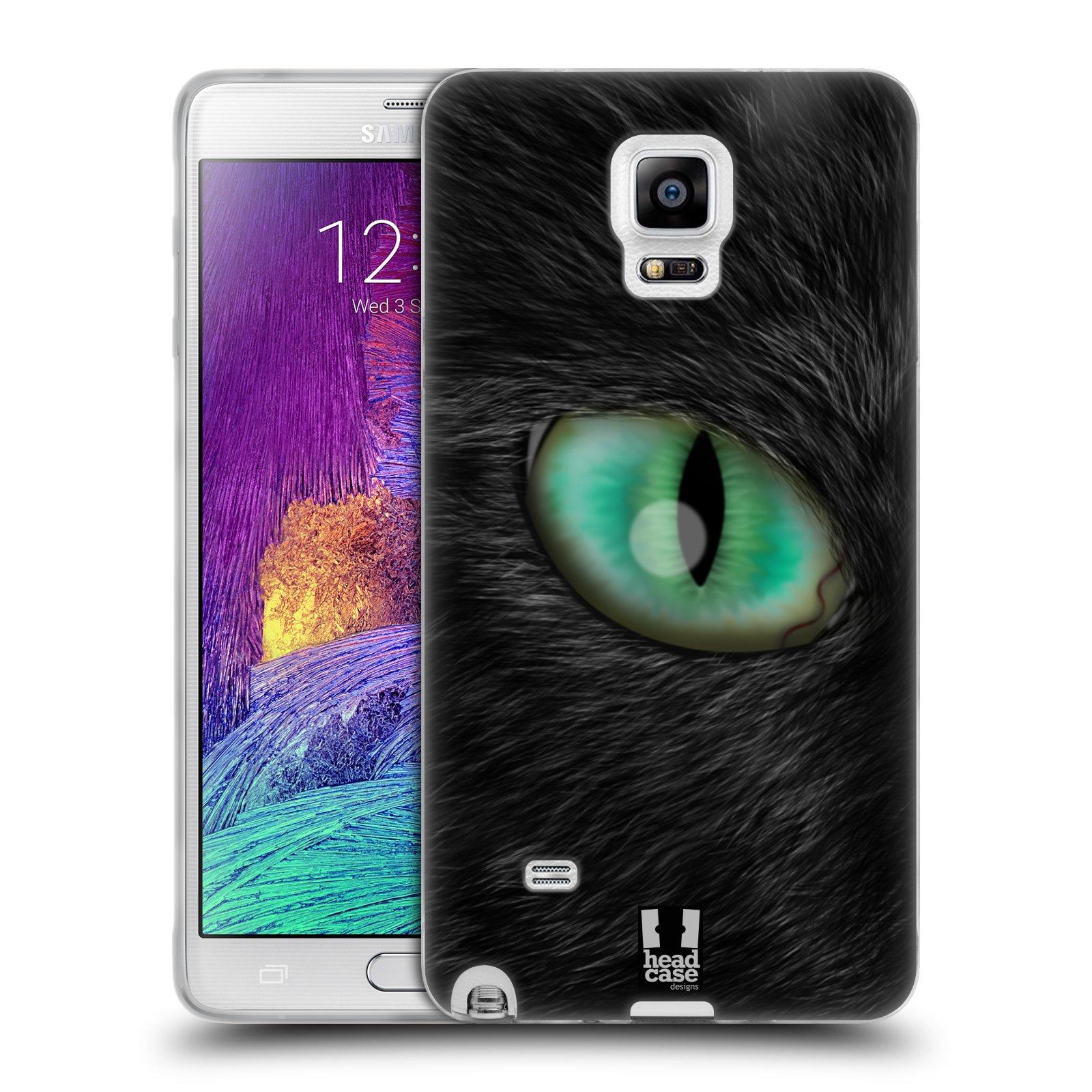 HEAD CASE silikonový obal na mobil Samsung Galaxy Note 4 (N910) vzor pohled zvířete oko kočka