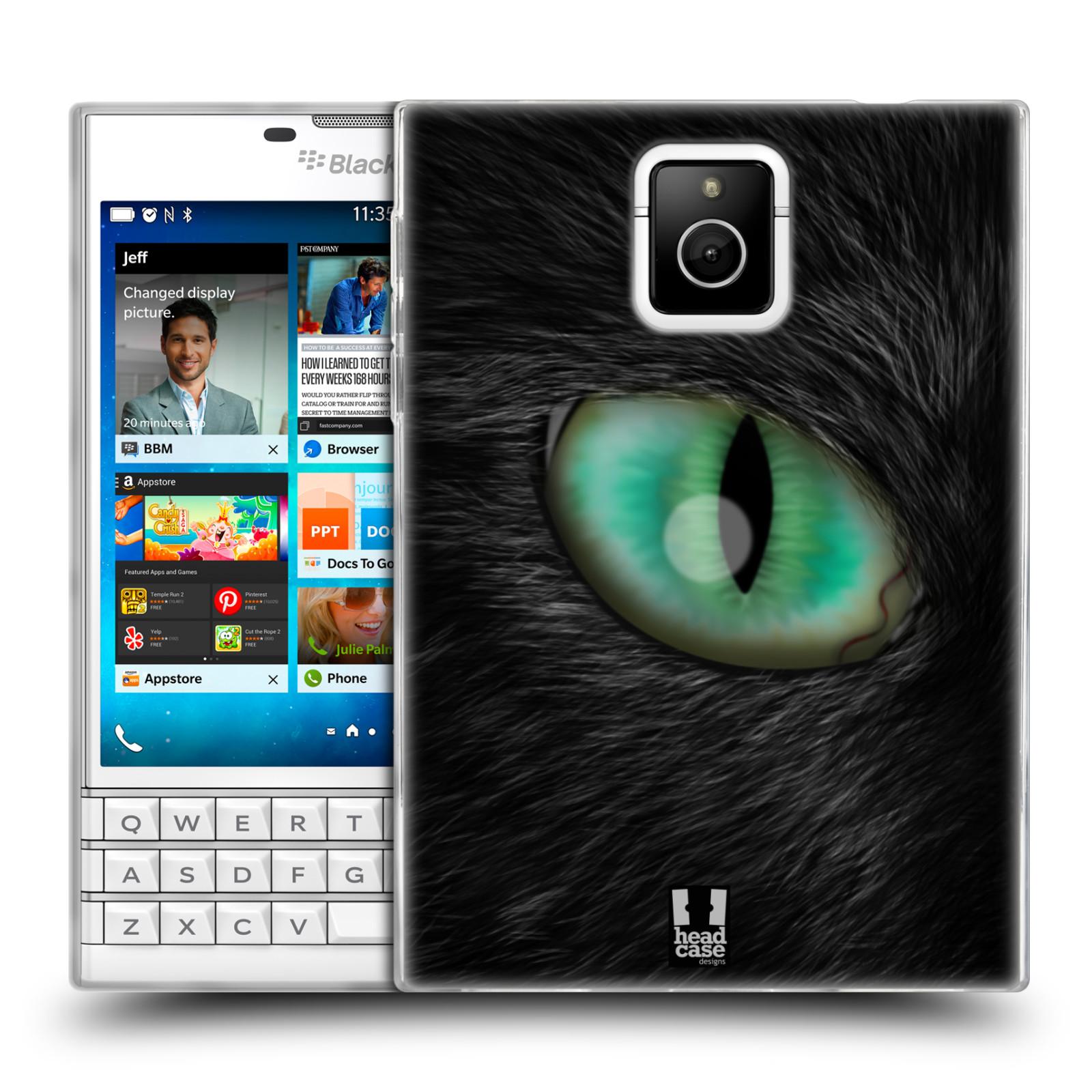 HEAD CASE silikonový obal na mobil Blackberry PASSPORT vzor pohled zvířete oko kočka