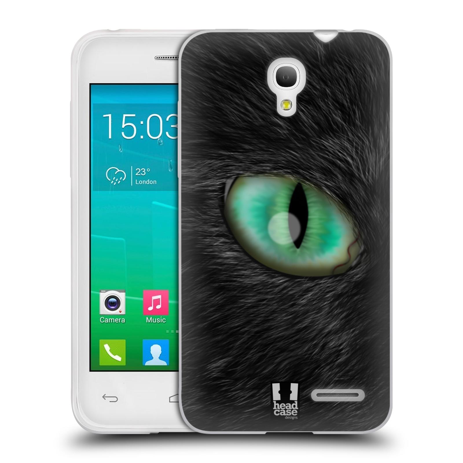 HEAD CASE silikonový obal na mobil Alcatel POP S3 OT-5050Y vzor pohled zvířete oko kočka