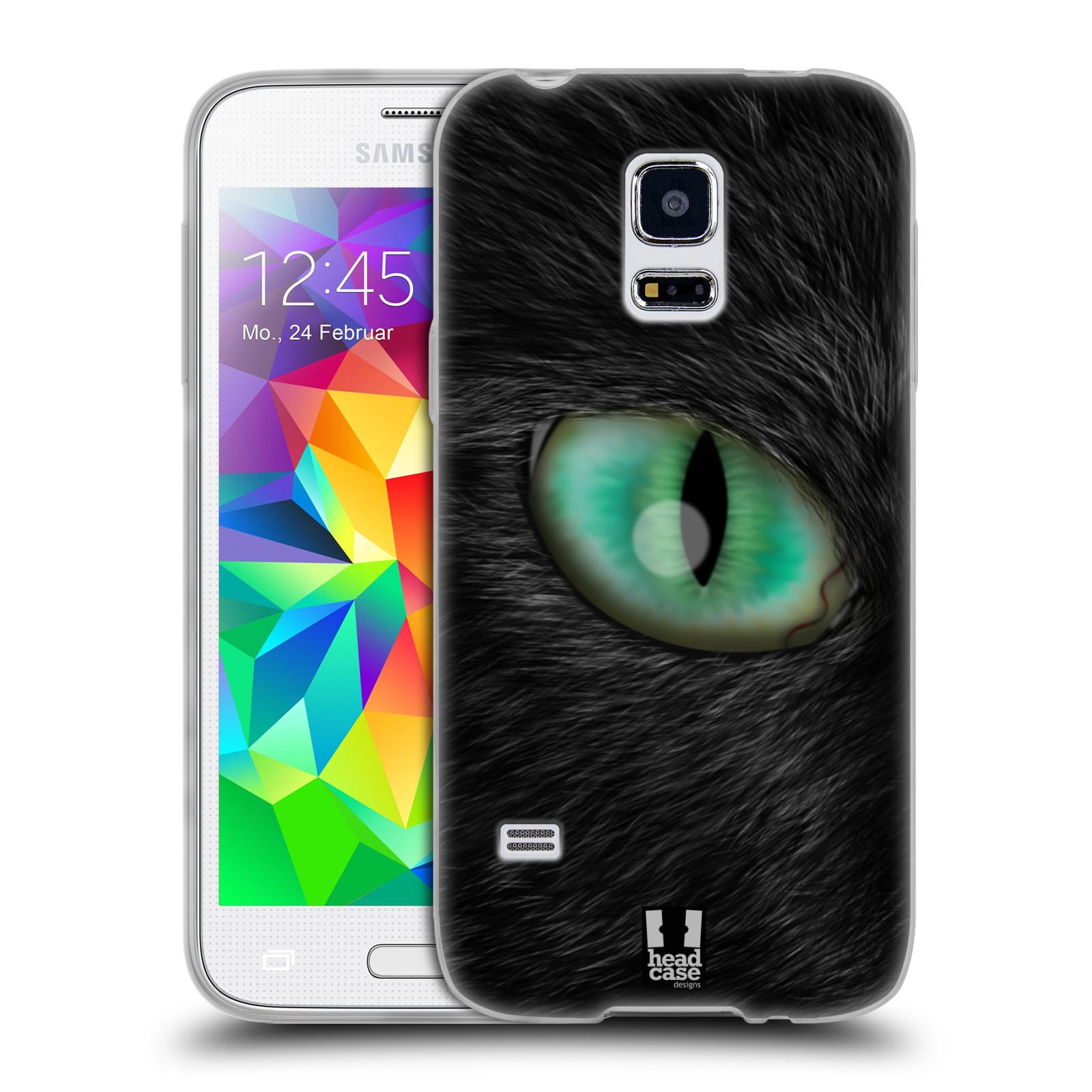 HEAD CASE silikonový obal na mobil Samsung Galaxy S5 MINI vzor pohled zvířete oko kočka