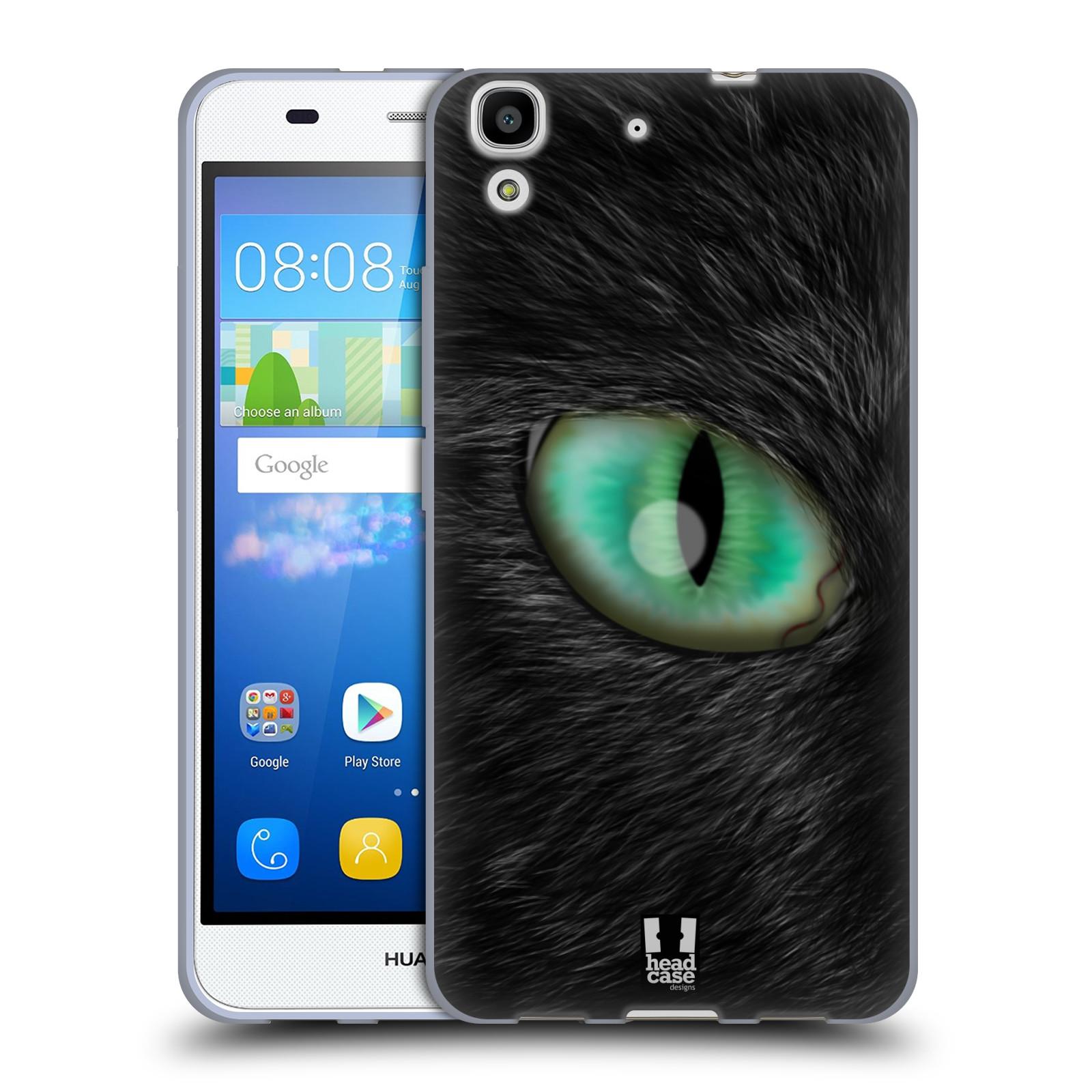 HEAD CASE silikonový obal na mobil HUAWEI Y6 vzor pohled zvířete oko kočka